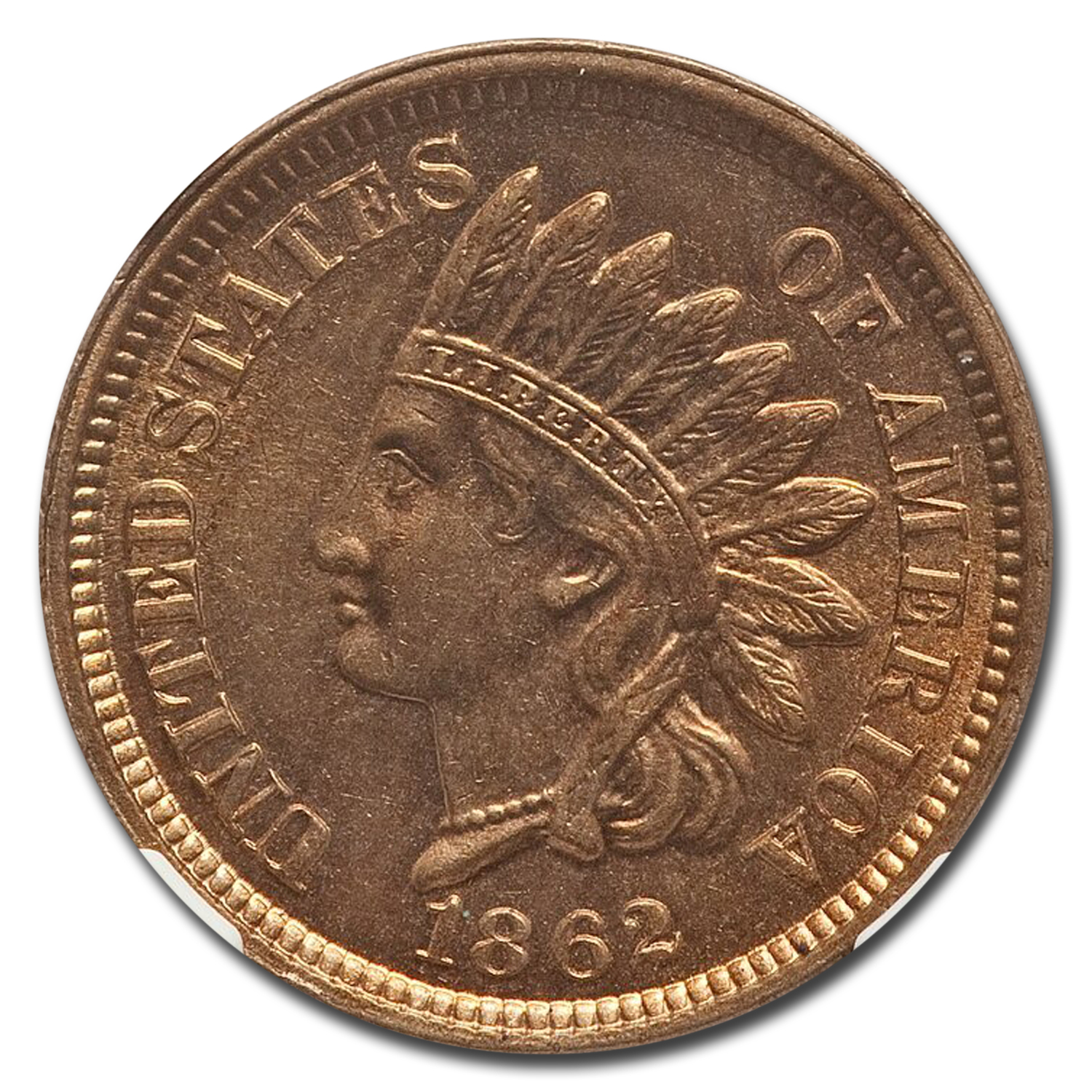 1862 Indian Head Cent MS-65 NGC CAC