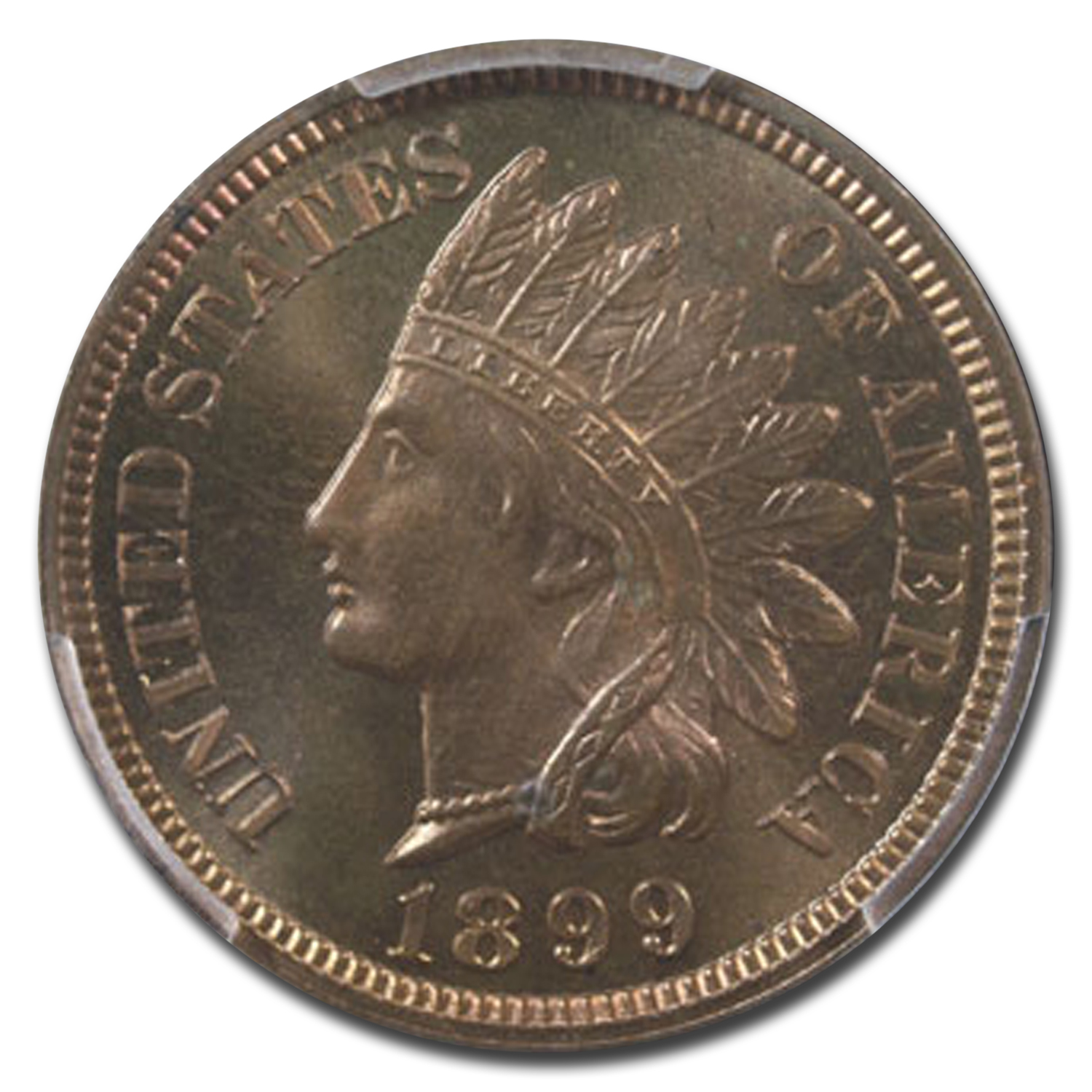 1899 Indian Head Cent PR-66 PCGS (Red/Brown)