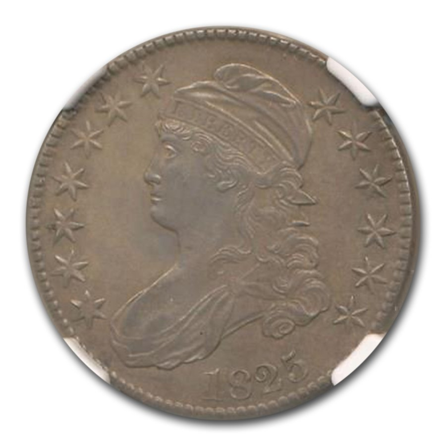 1825 Capped Bust Half Dollar MS-61 NGC