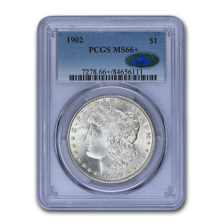 1902 Morgan Dollar MS-66+ PCGS CAC