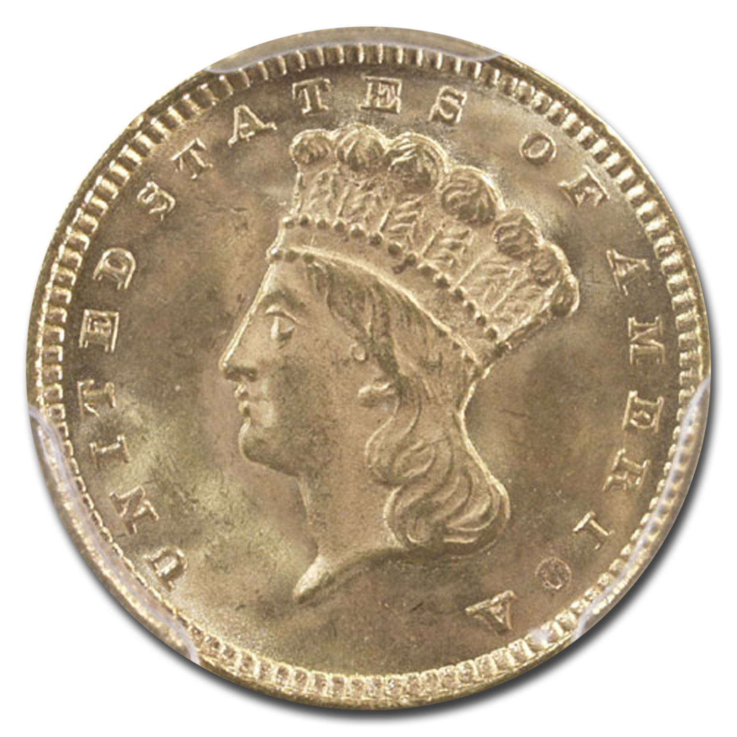 1874 $1 Indian Head Gold MS-65 PCGS