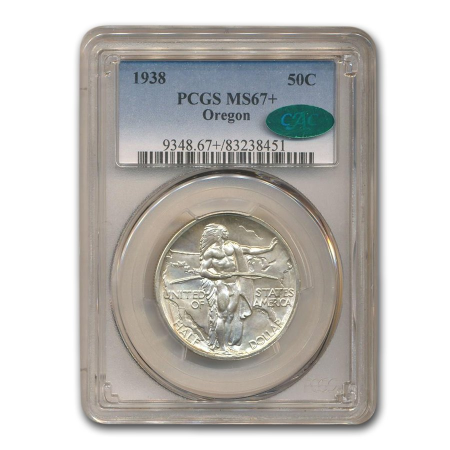 1938 Oregon Trail Half Dollar MS-67+ PCGS CAC