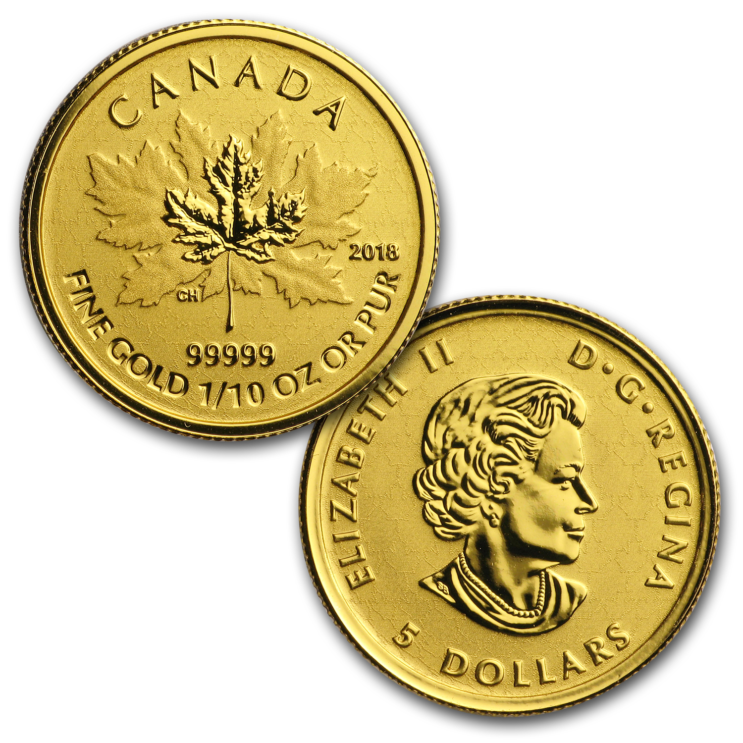 2018 Canada 4-Coin Gold Fractional Maple Leaf Set (1.4 oz)