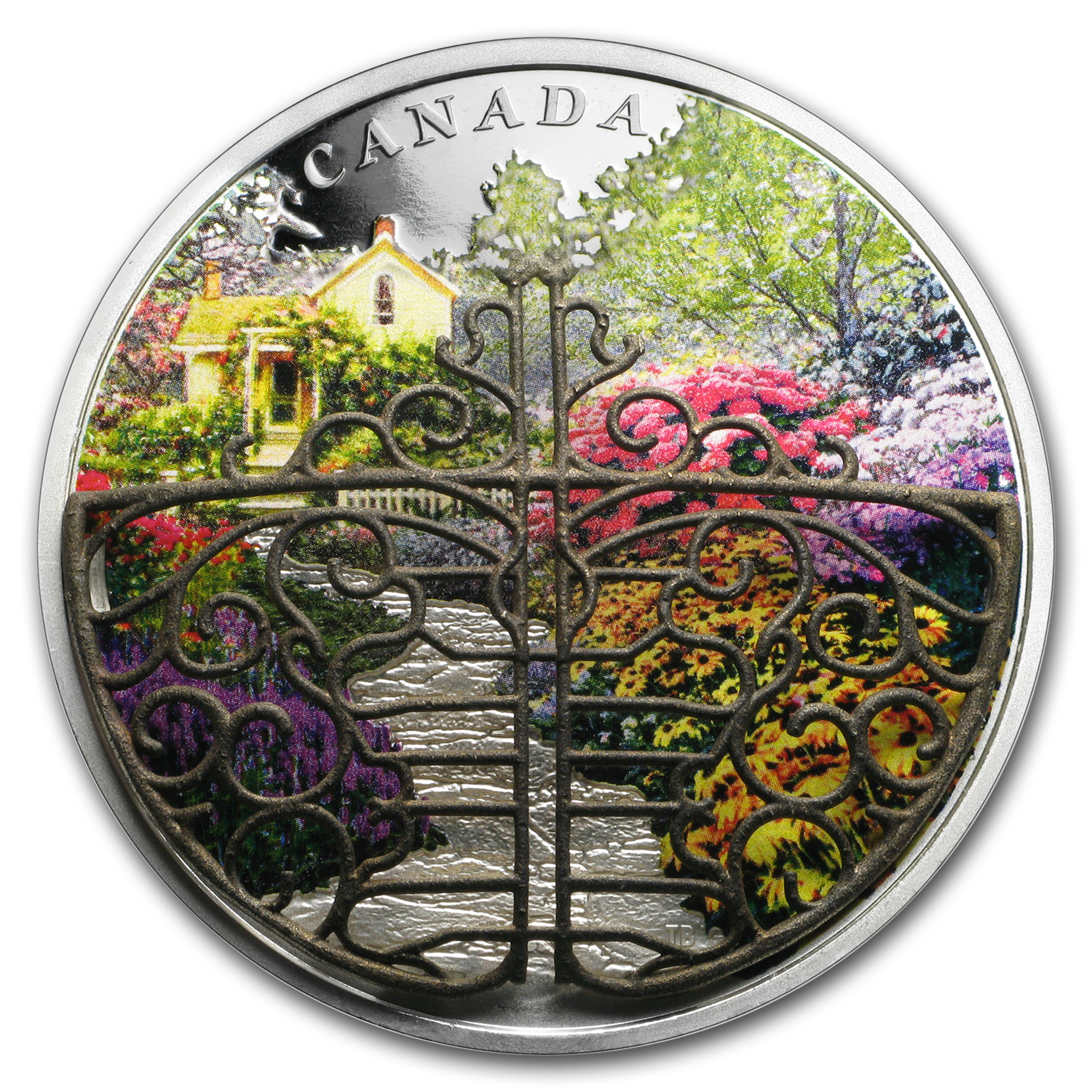 2017 Canada 2 oz Silver $30 Gate to Enchanted Garden