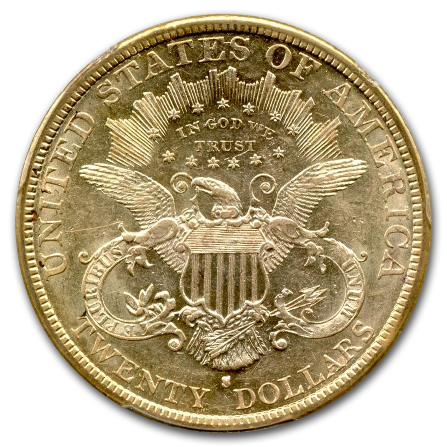 1879-S $20 Liberty Gold Double Eagle AU-55 PCGS (Saddle Ridge)