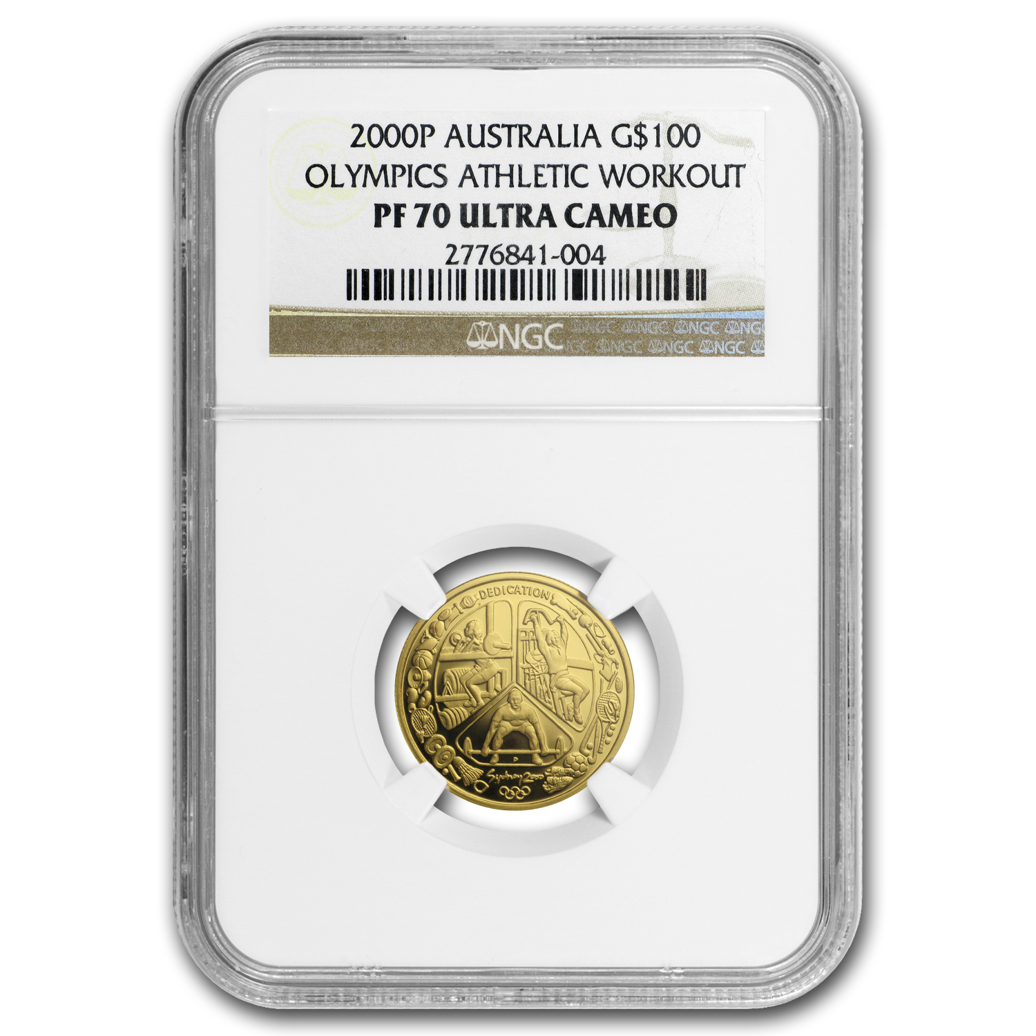 2000 Australia Proof Gold $100 Olympics Workout PF-70 NGC