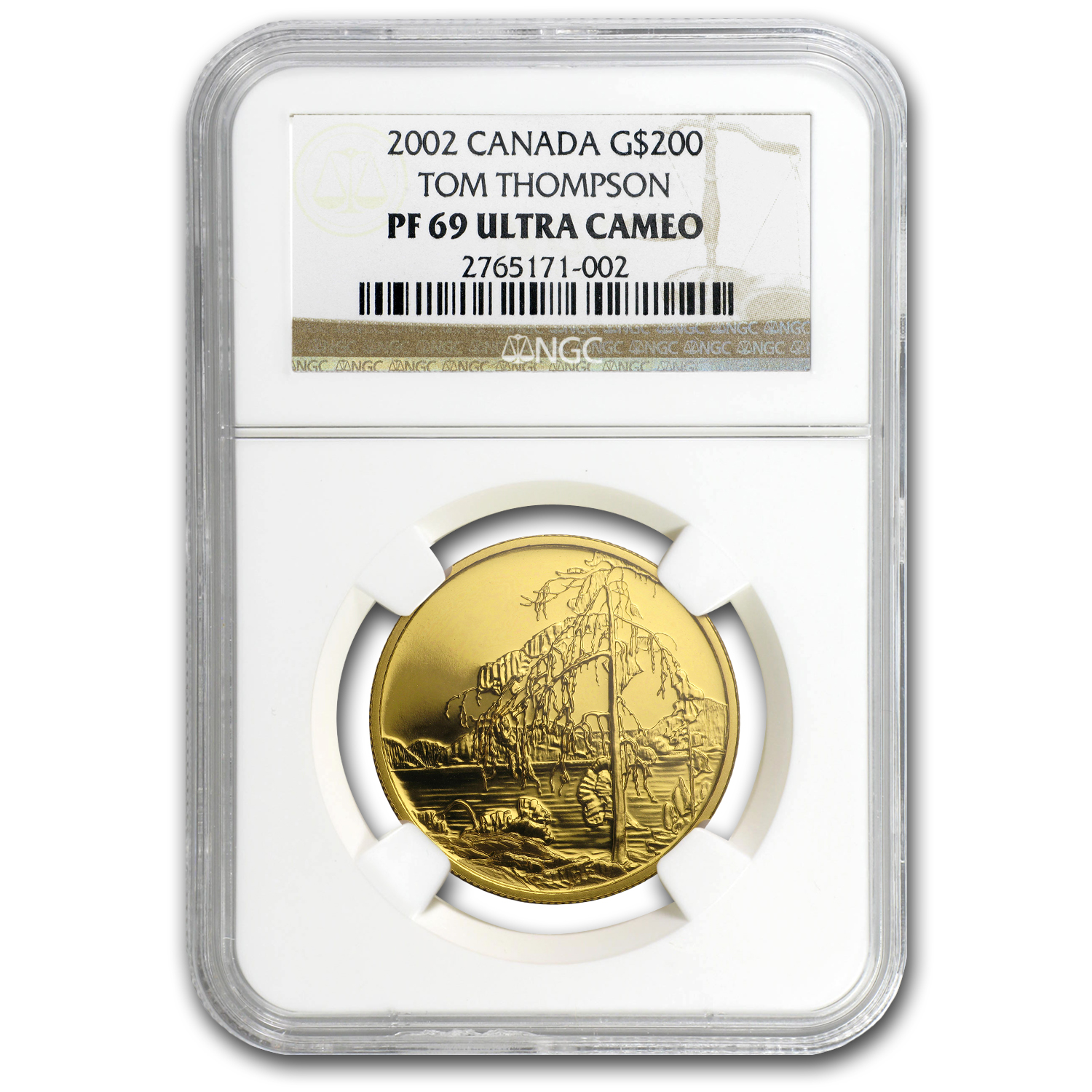 2002 Canada 1/2 oz Proof Gold $200 Jack Pine PF-69 NGC