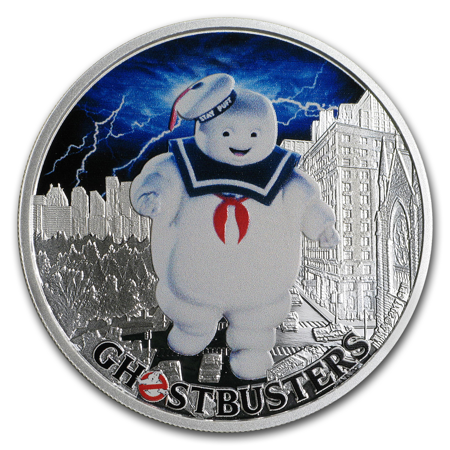 2017 Tuvalu 1 oz Silver Ghostbusters™ Stay Puft
