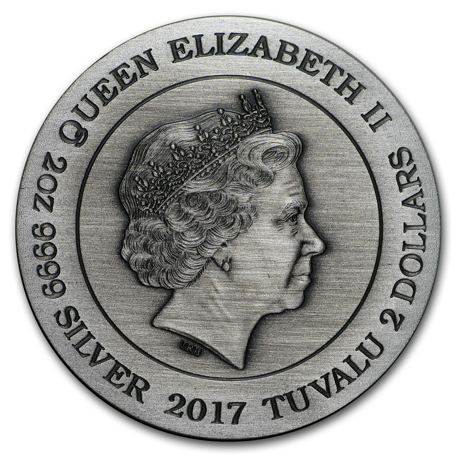 2017 Tuvalu 2 oz Silver Norse Goddesses: Hel (High Relief)