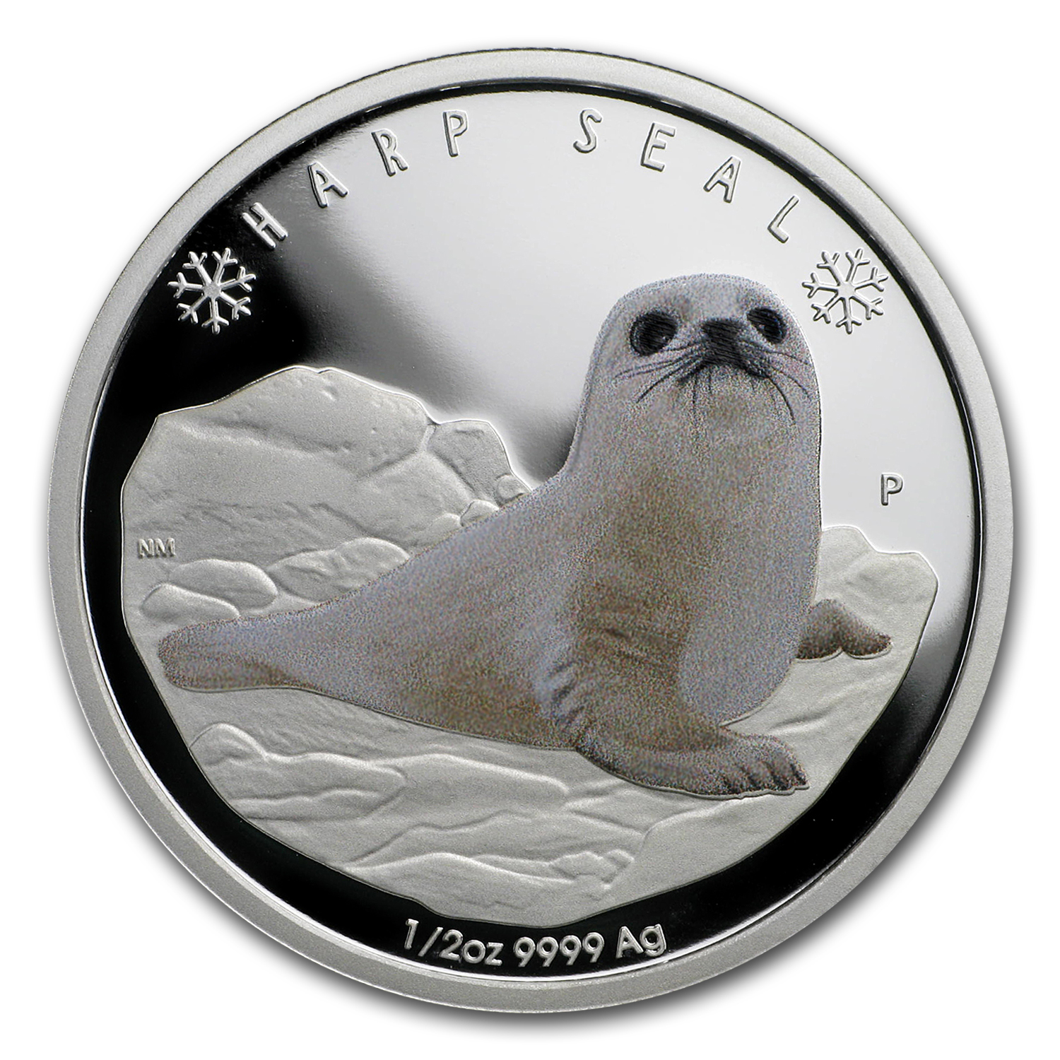 2017 Tuvalu 1/2 oz Silver Proof Polar Babies: Harp Seal