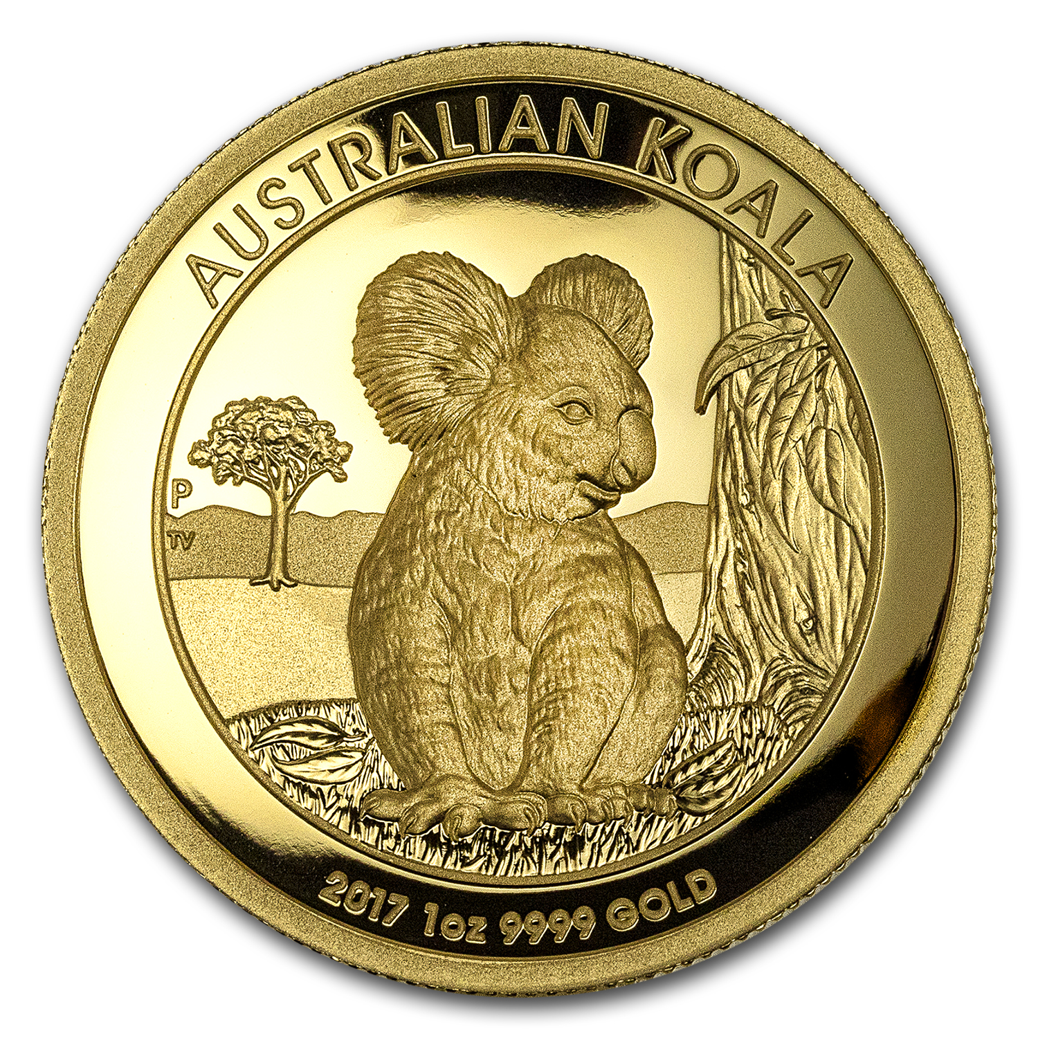 2017 Australia 1 oz Gold Koala Proof (High Relief, Box & COA)