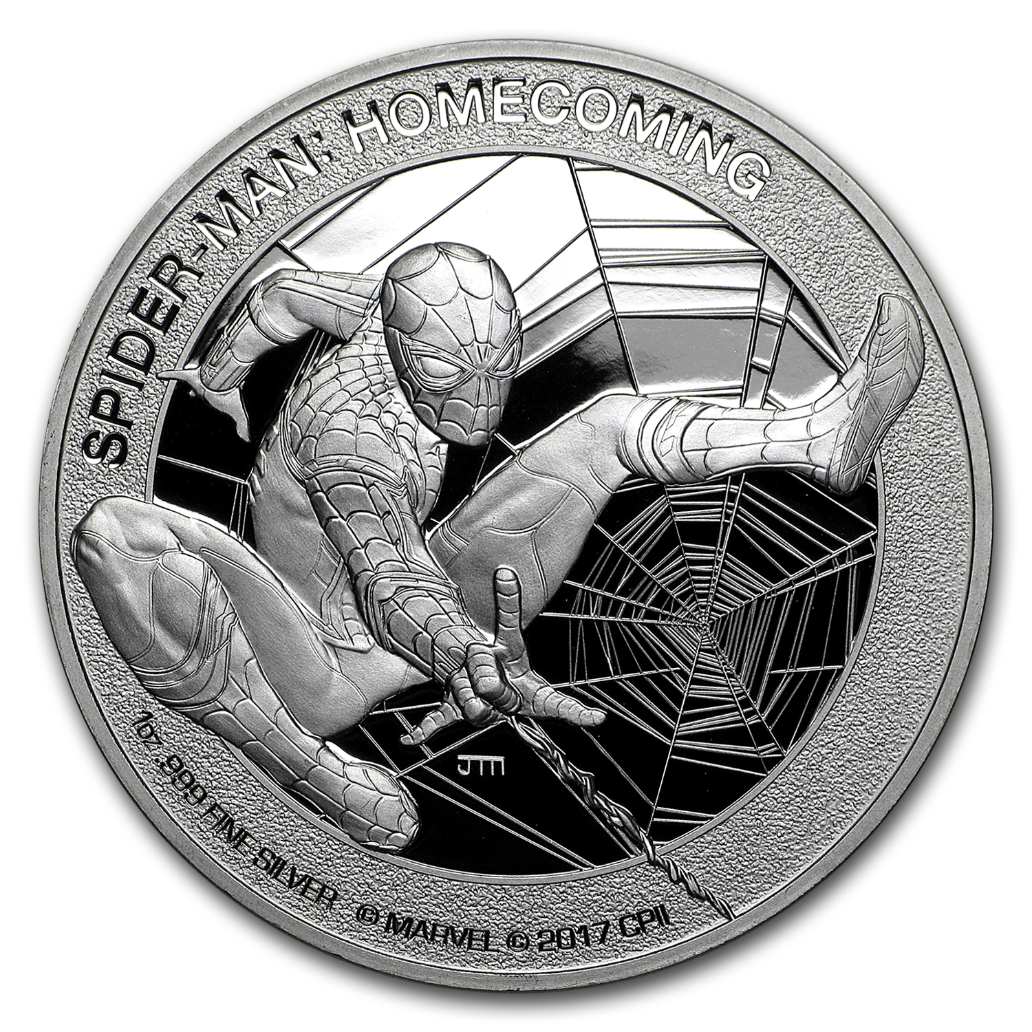 2017 1 oz Silver $5 Mercanti-Designed SPIDERMAN™ PF-70 NGC (FR)
