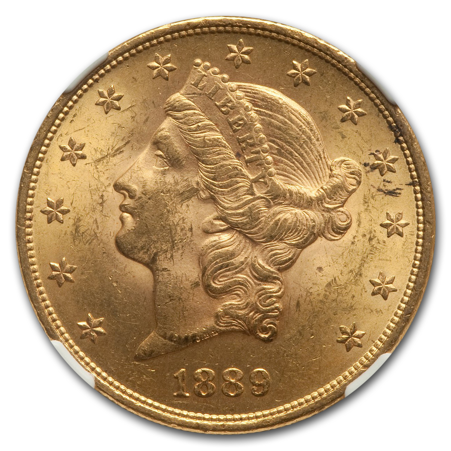 1889 $20 Liberty Gold Double Eagle MS-62 NGC