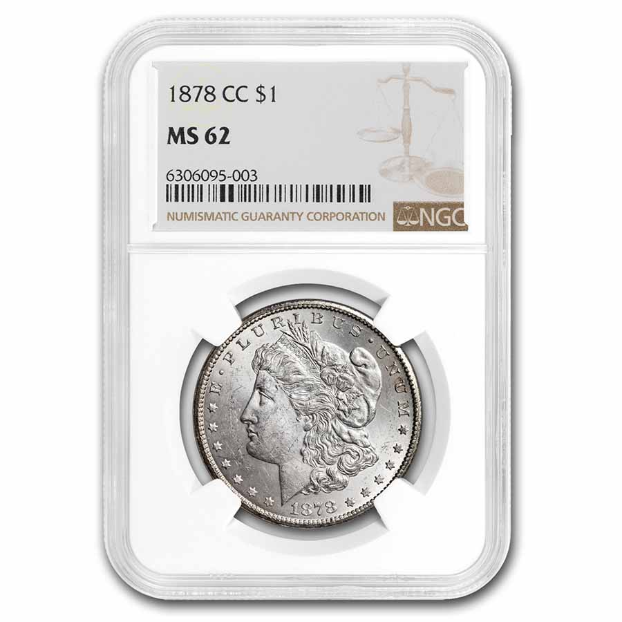 1878-CC Morgan Dollar MS-62 NGC