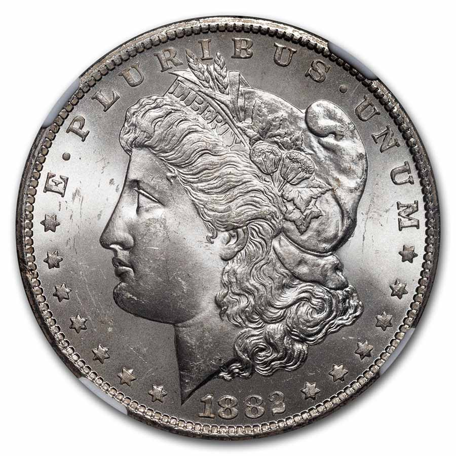 1882-CC Morgan Dollar MS-63 NGC