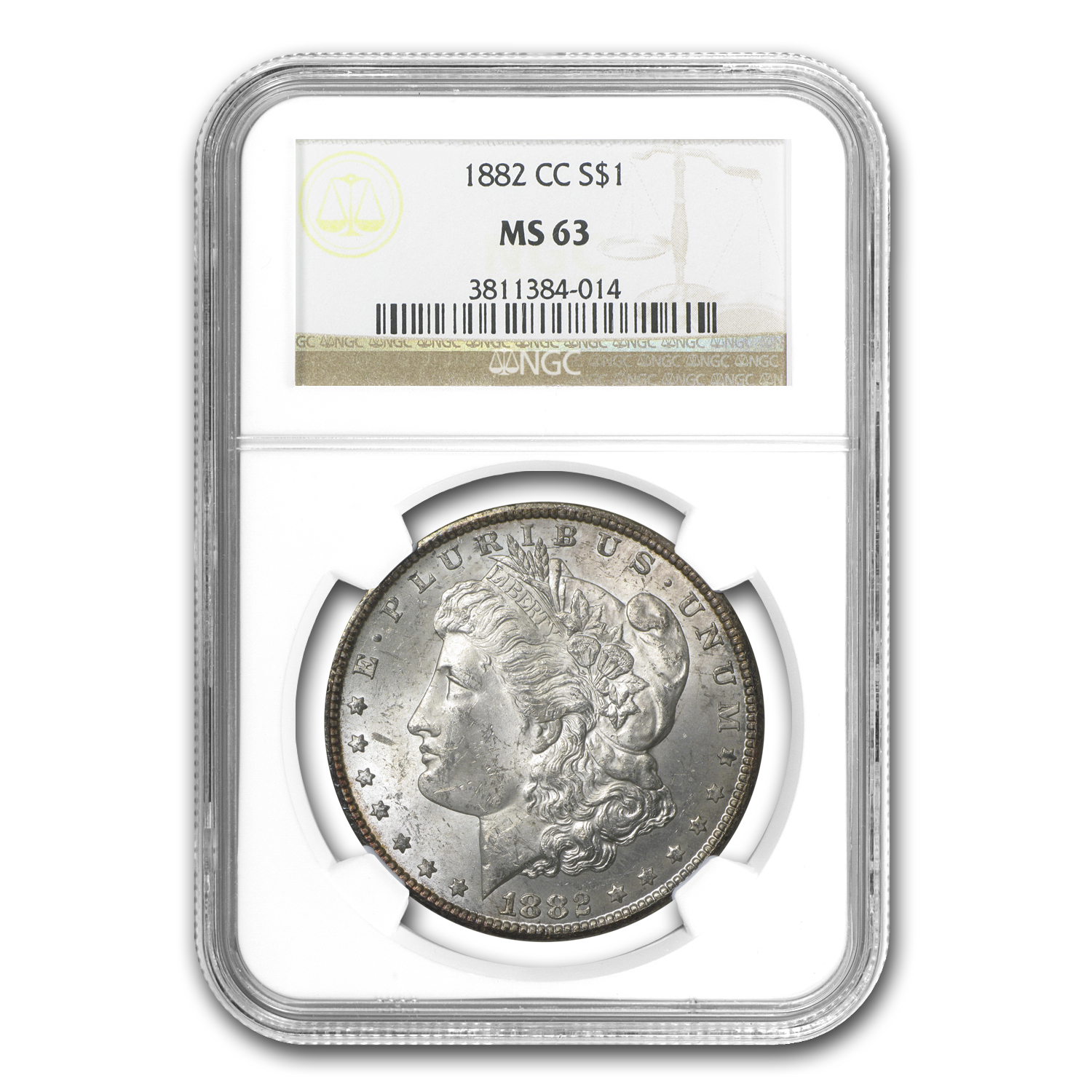 1882-CC Morgan Dollar - MS-63 NGC