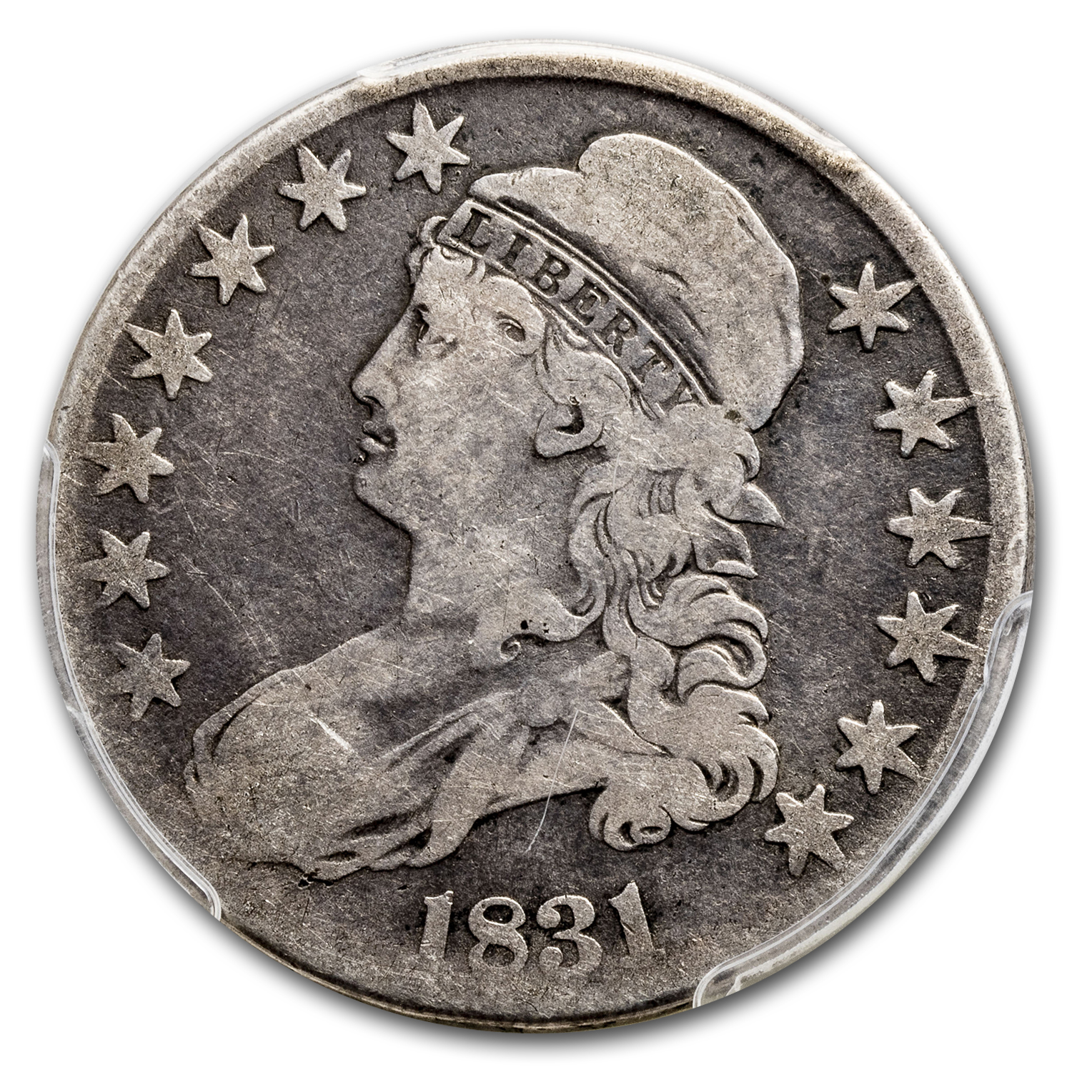 1831 Capped Bust Half Dollar Good-6 PCGS