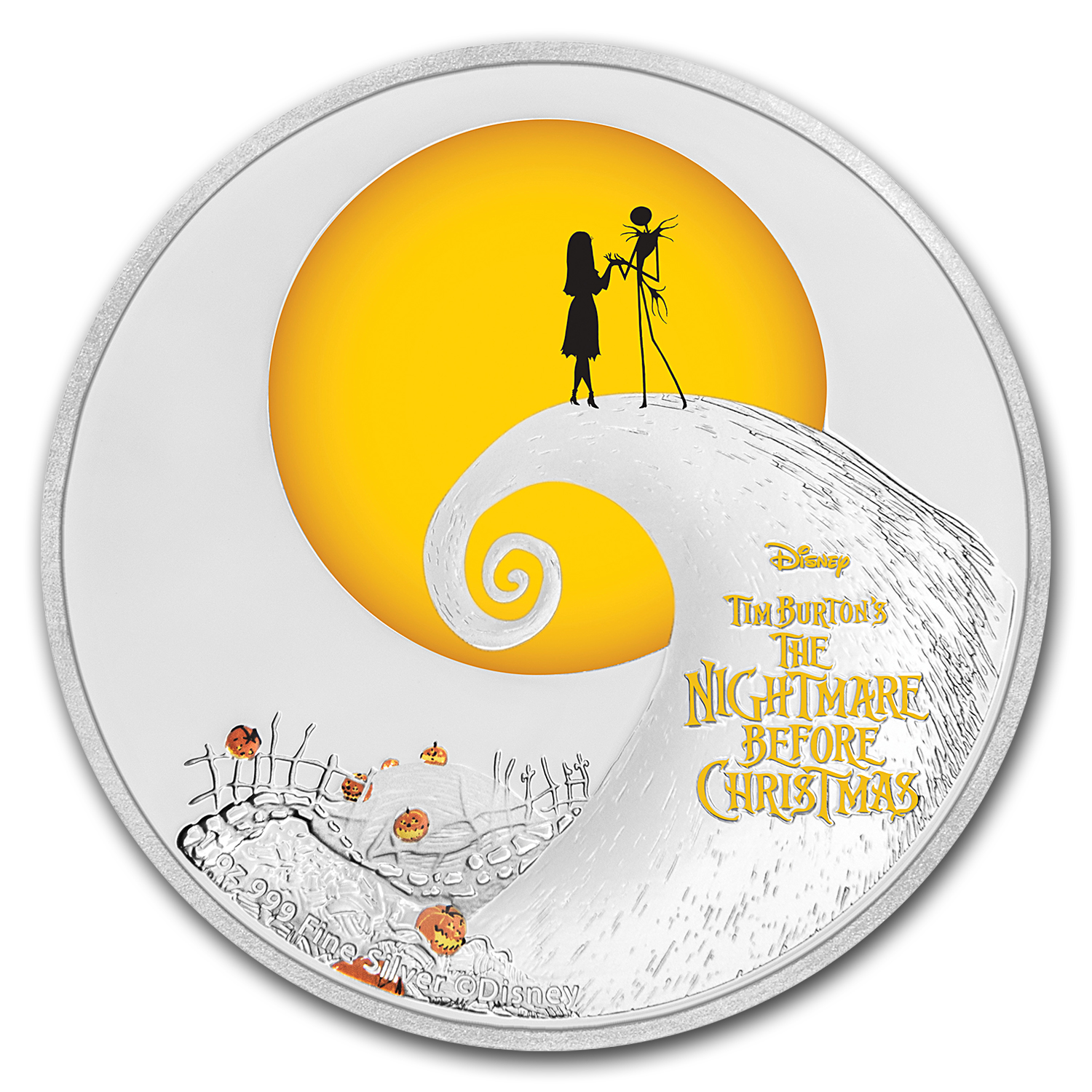 2017 Niue 1 oz Silver $2 The Nightmare Before Christmas