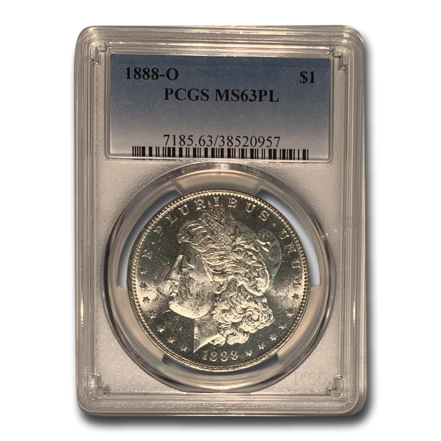 1888-O Morgan Dollar - MS-63 PL Proof Like PCGS