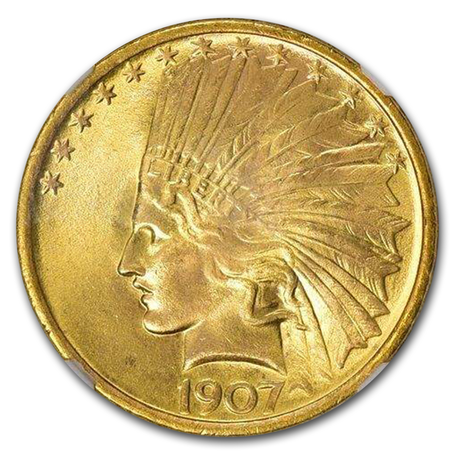 1907 $10 Indian Gold Eagle MS-68 NGC