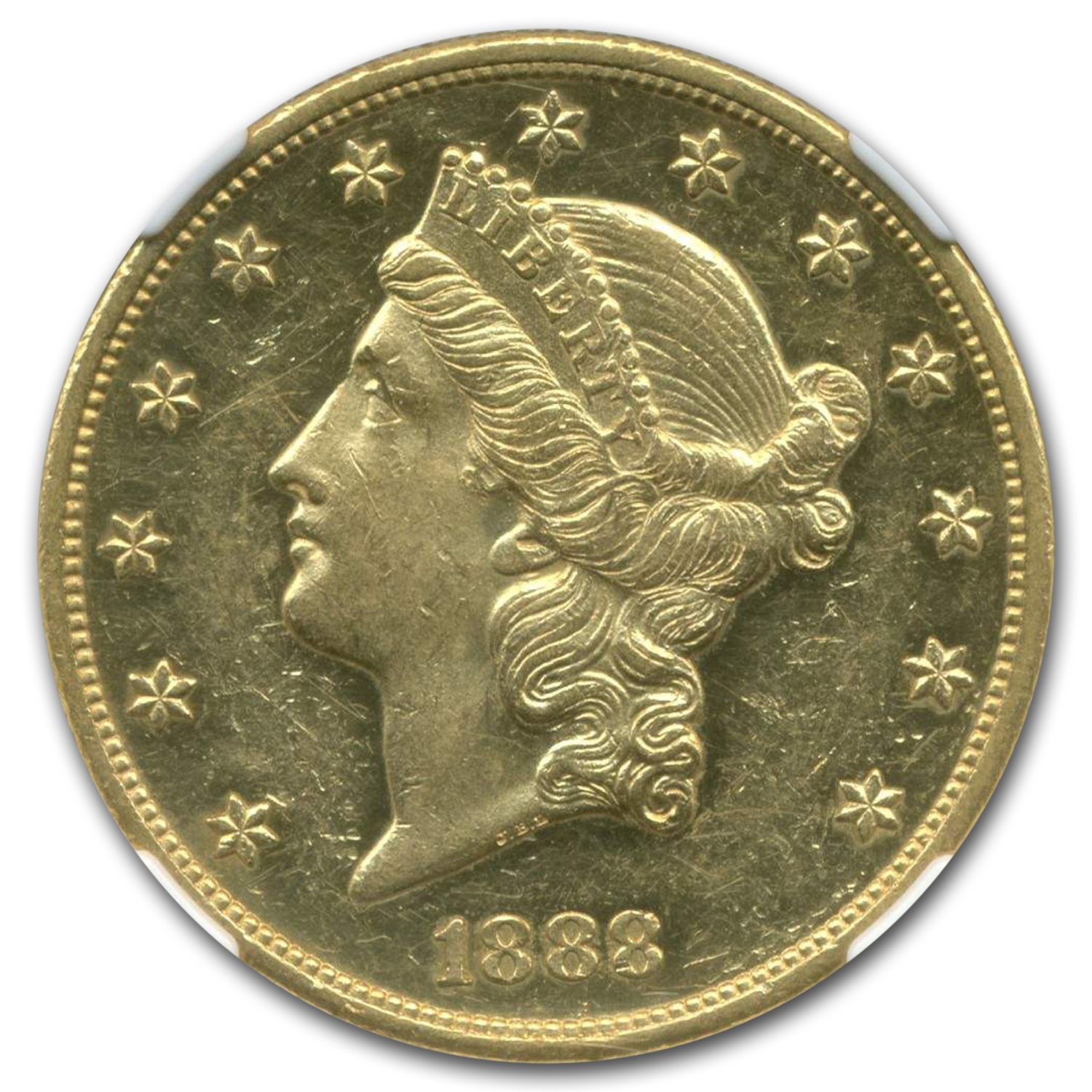 1888 $20 Liberty Gold Double Eagle PR-61 NGC Cameo