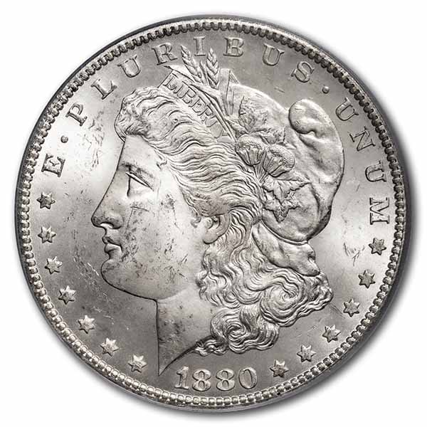 1880-CC Morgan Dollar MS-64 PCGS