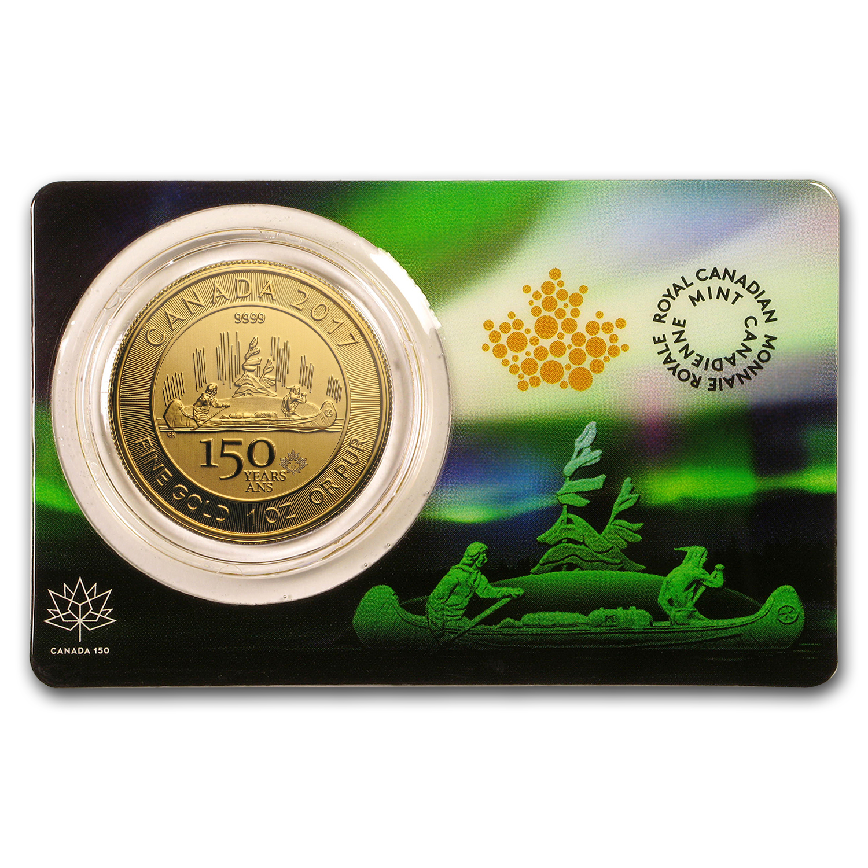 Buy 2017 Rcm 1 Oz Gold 150 Canada 150 Voyageur Assay