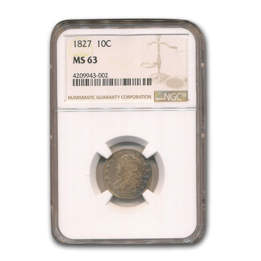 1827 Capped Bust Dime MS-63 NGC