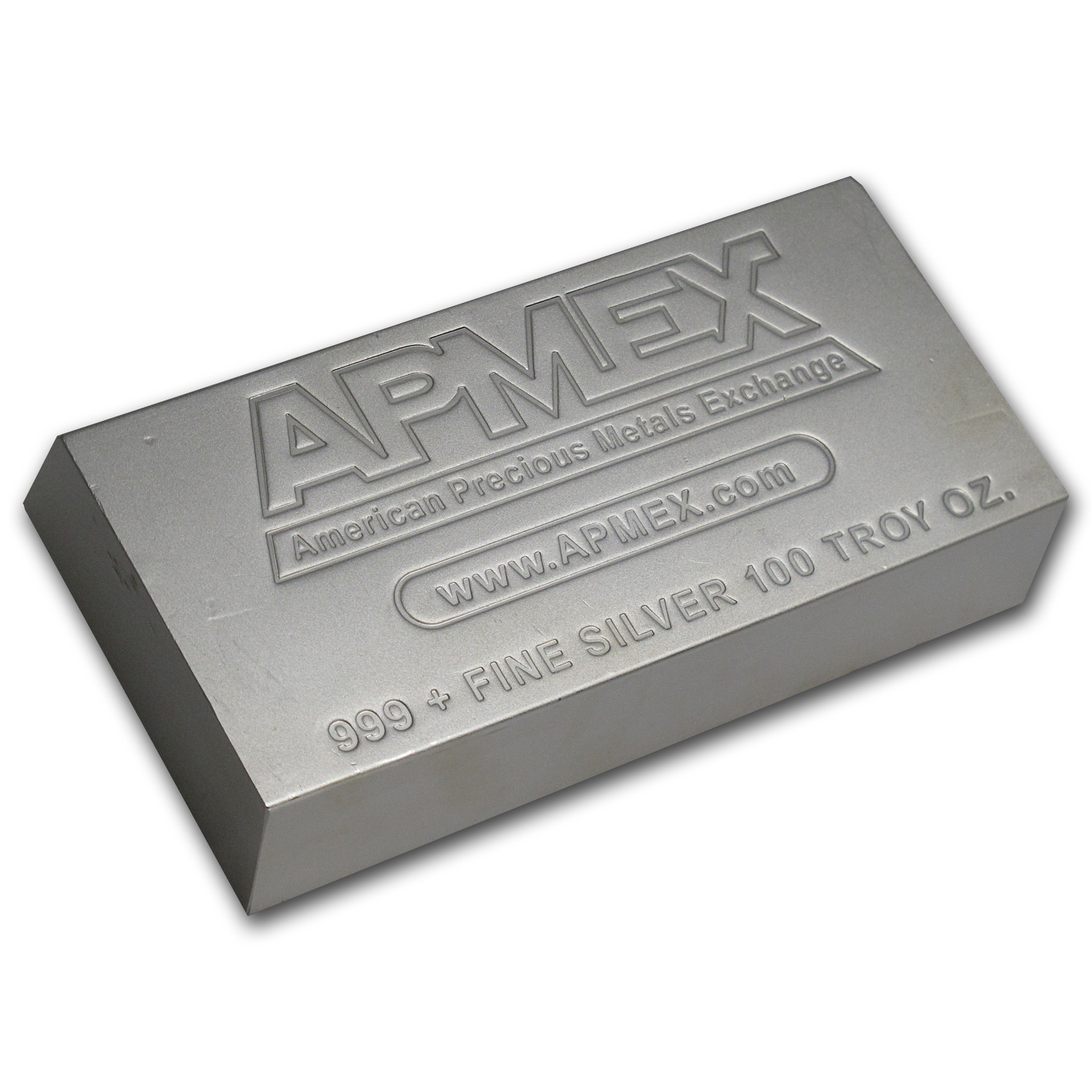 100 oz Silver Bar - APMEX (Matte-Finish)