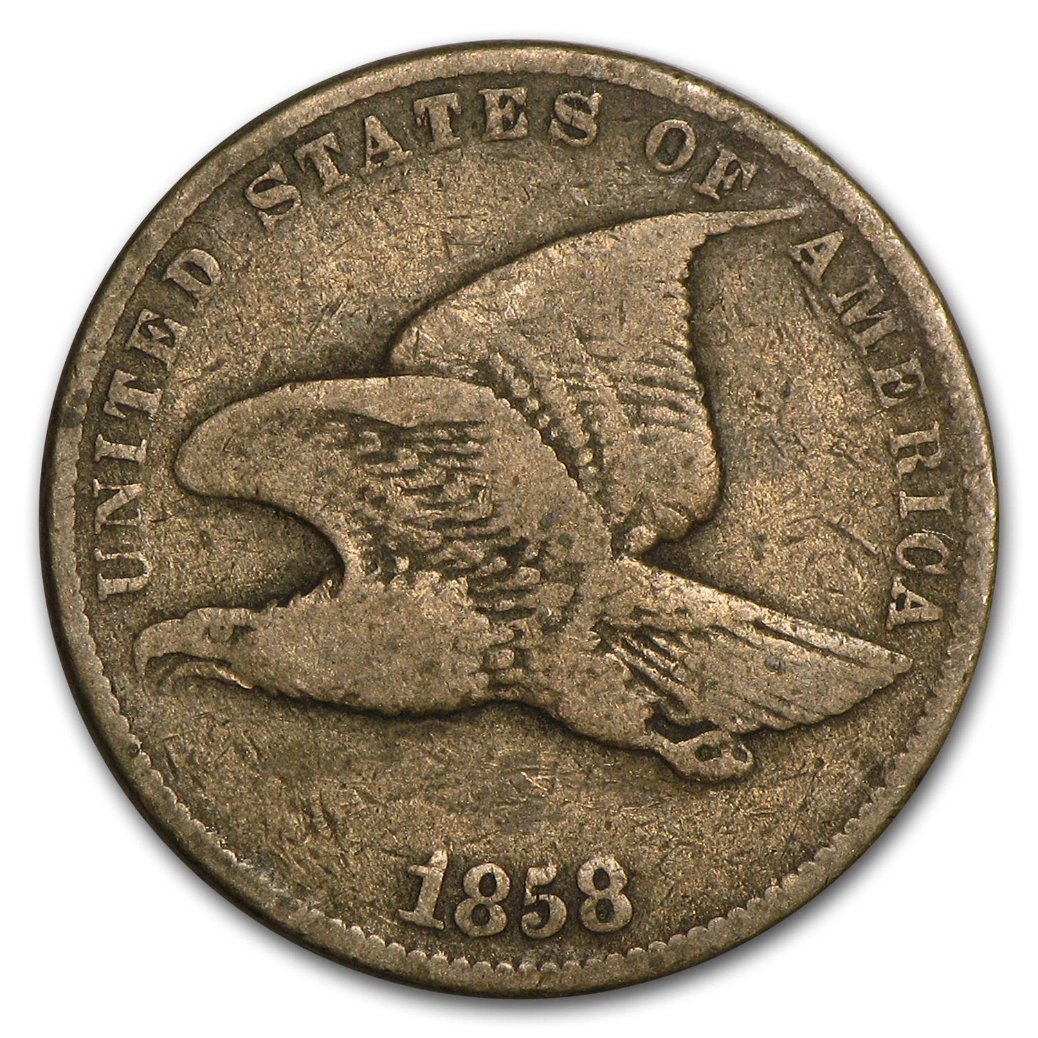 1858 Flying Eagle Cent Small Letters Fine