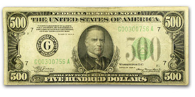 1934-A (G-Chicago) $500 FRN (Fine + )