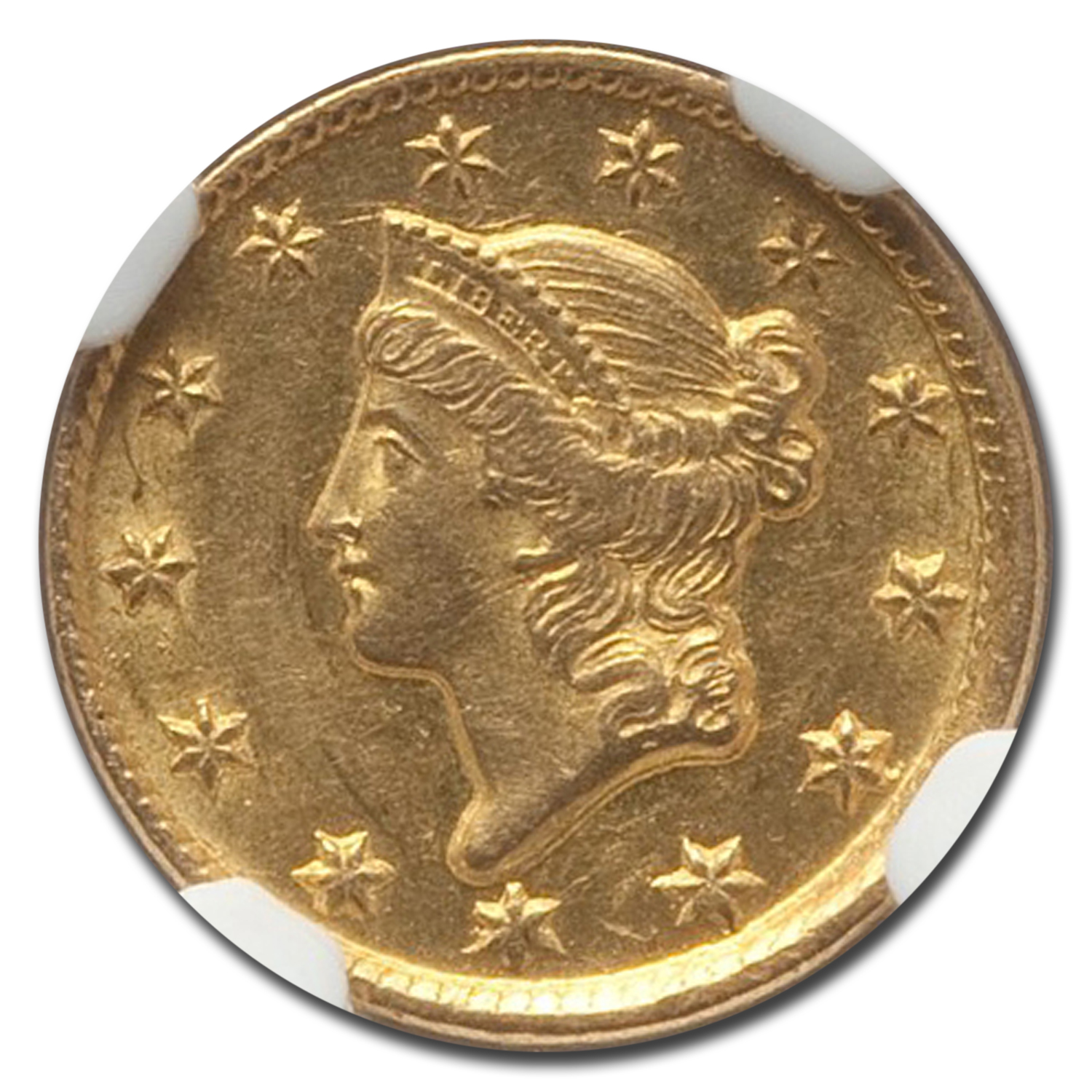 1851-D $1 Liberty Head Gold - MS-62 NGC