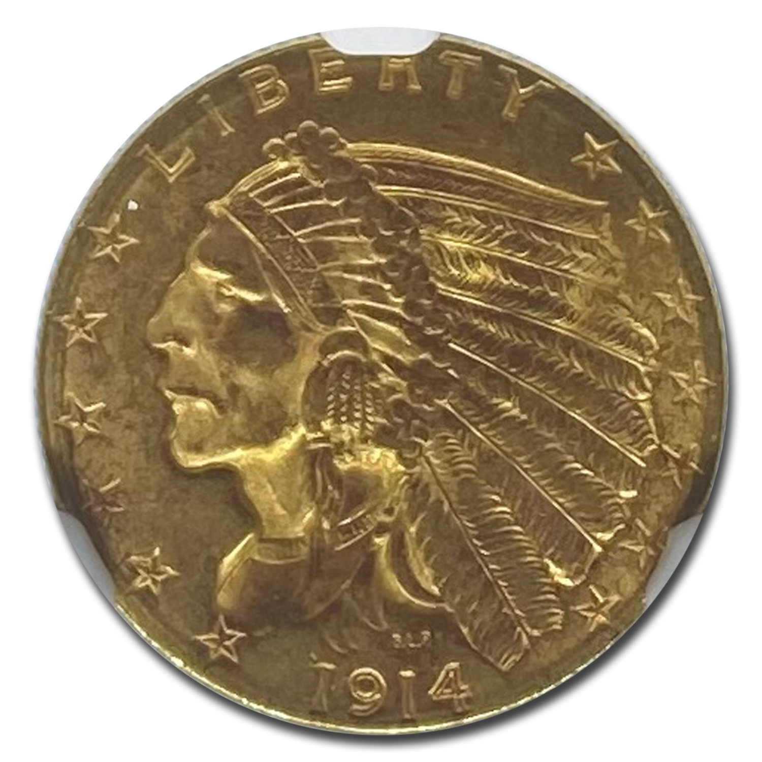 1914-D $2.50 Indian Gold Quarter Eagle MS-62 NGC