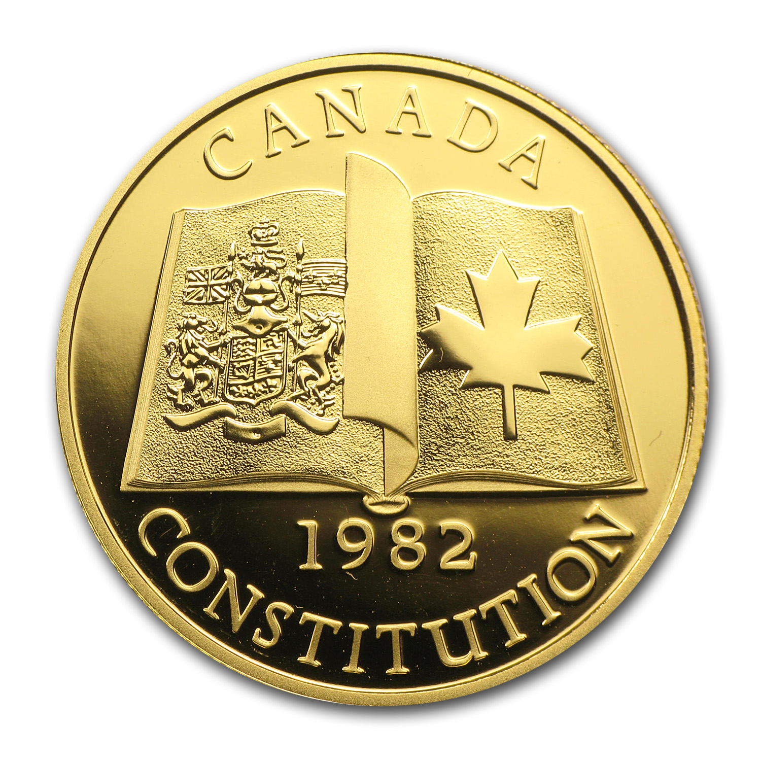 1982 Canada 1/2 oz Proof Gold $100 Constitution