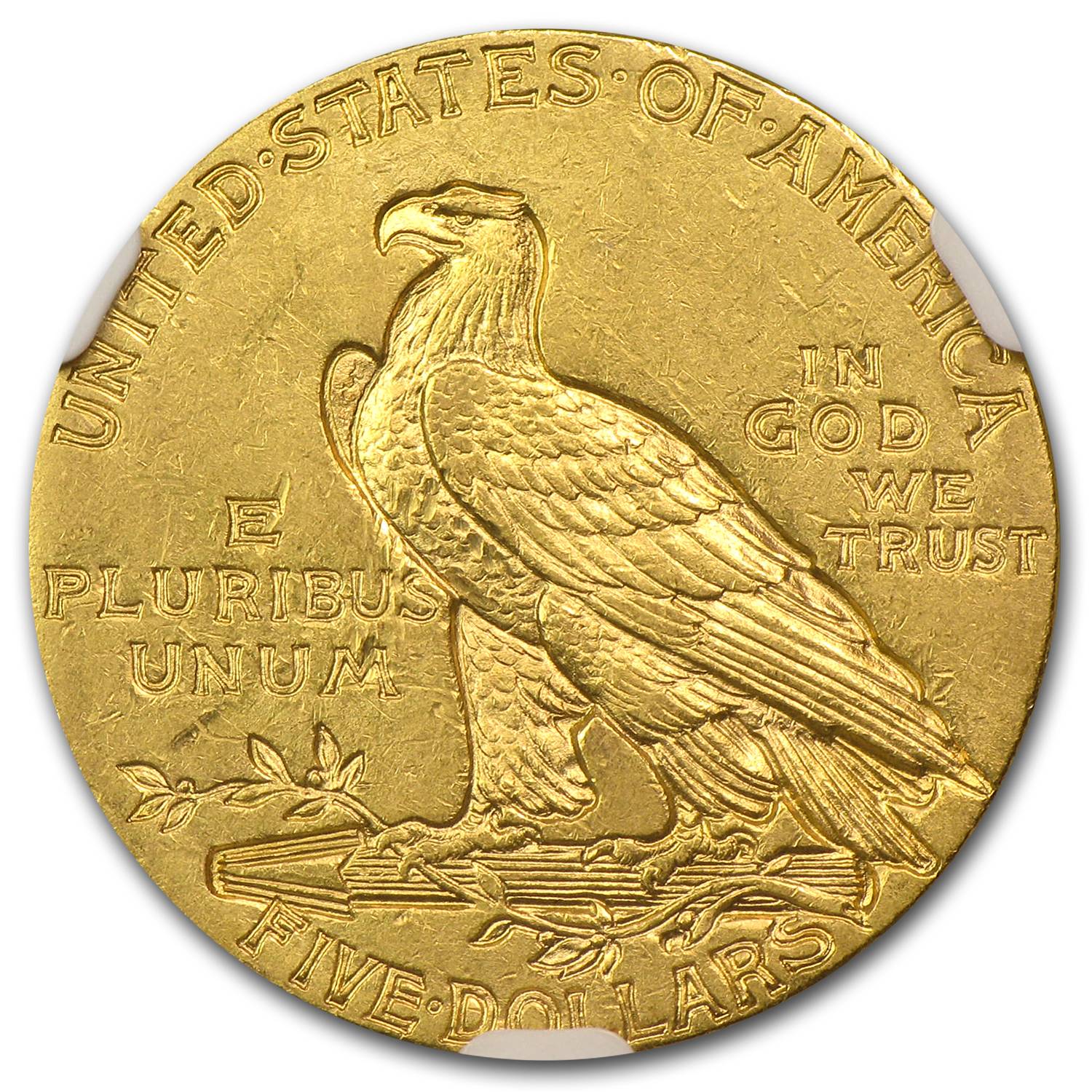 1911 $5 Indian Gold Half Eagle AU-58 NGC