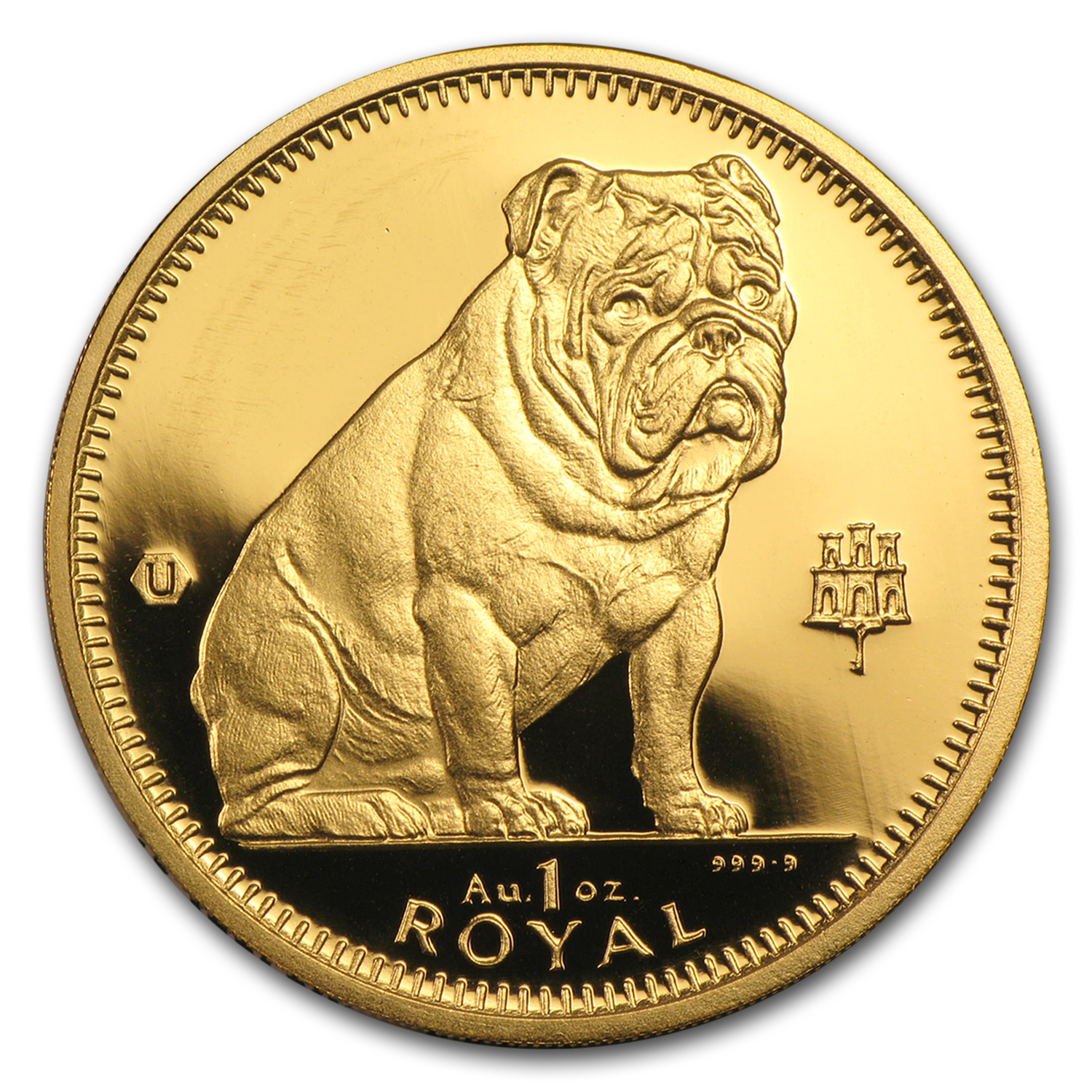 Gibraltar 1996 1 Oz Gold Bu Bulldog Gold Coins From