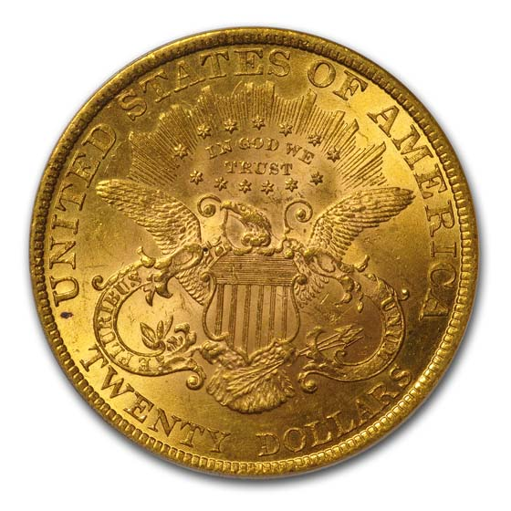 1898 $20 Liberty Gold Double Eagle MS-62 PCGS