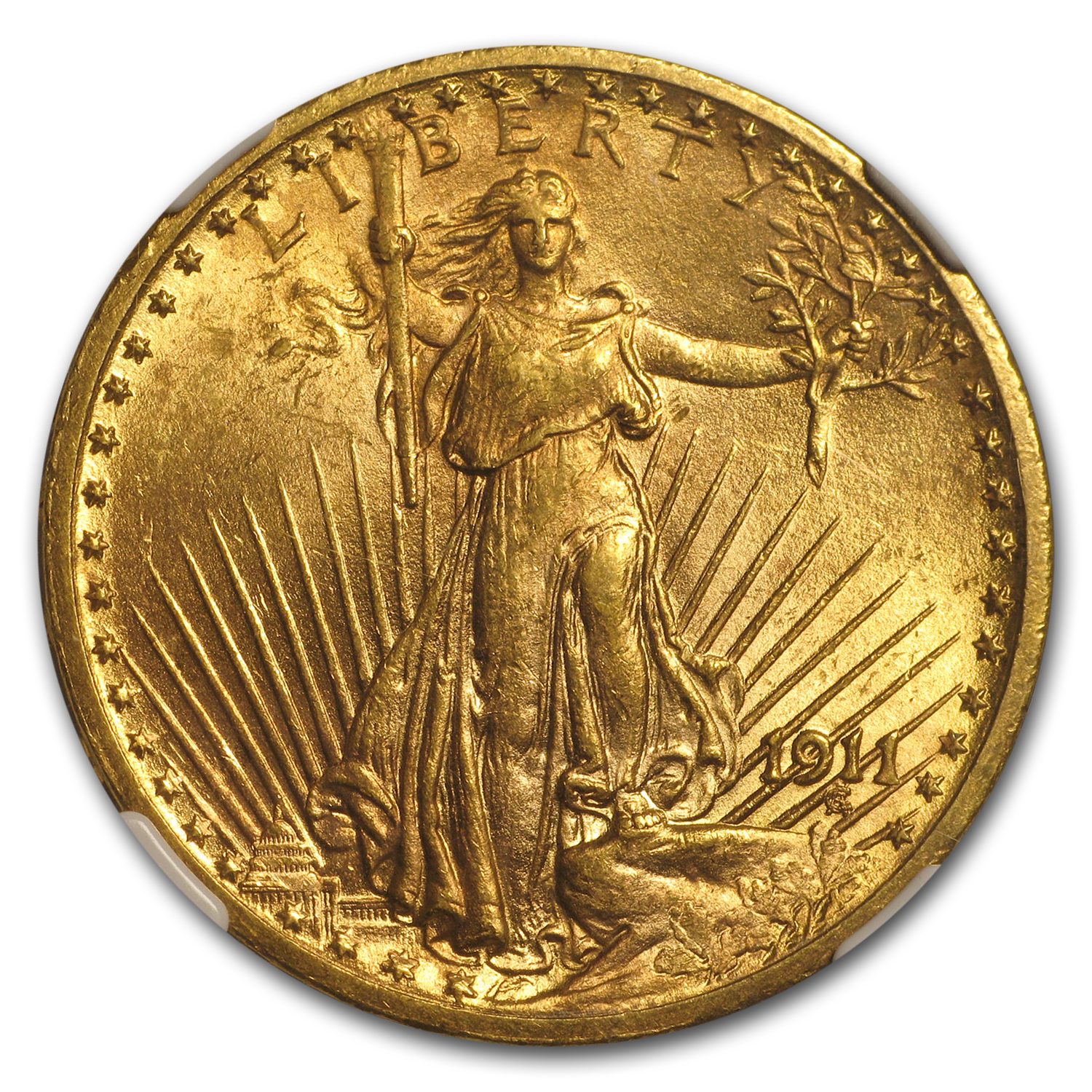 1911 $20 St. Gaudens Gold Double Eagle MS-62 NGC