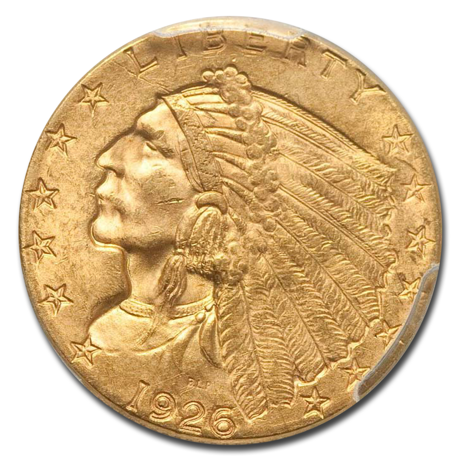 1926 $2.50 Indian Gold Quarter Eagle - MS-63 PCGS CAC