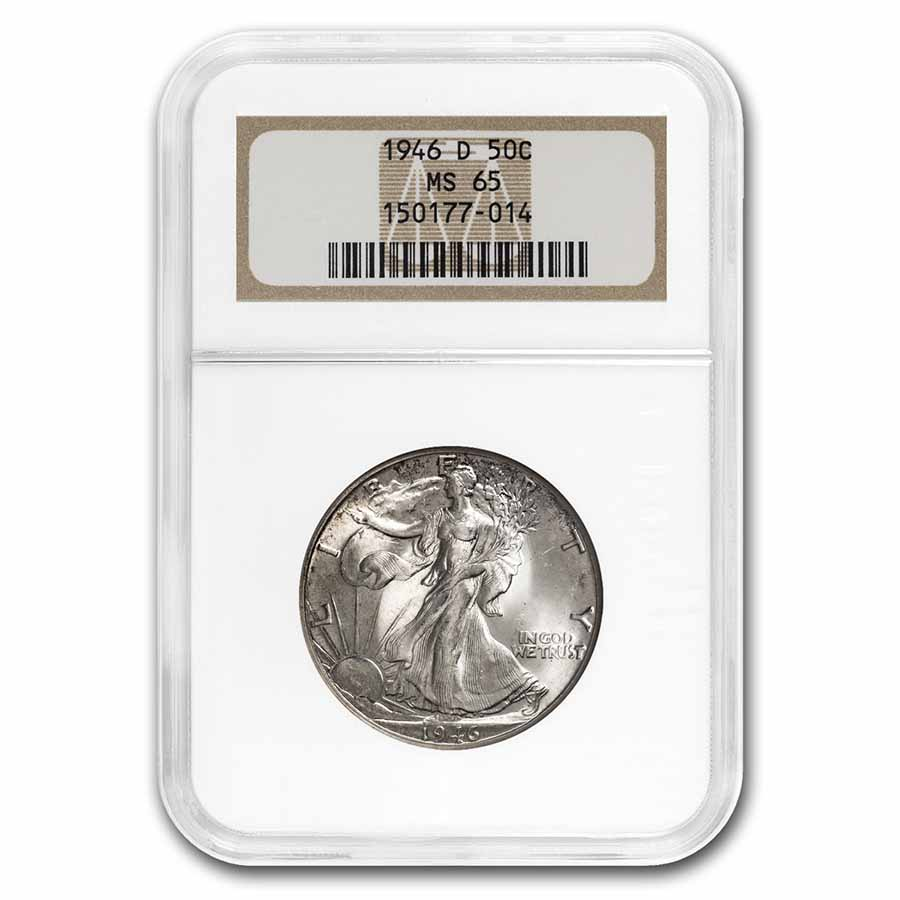 1946-D Walking Liberty Half Dollar MS-65 NGC