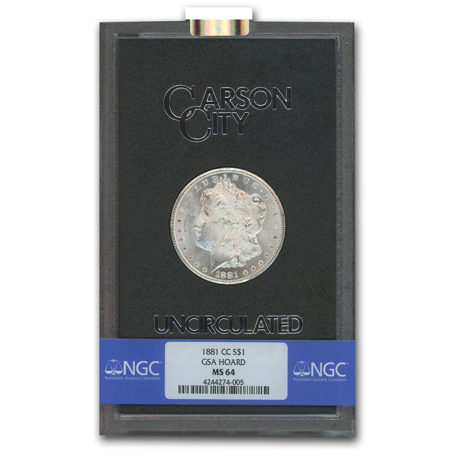 1881-CC Morgan Dollar MS-64 NGC - GSA Certified