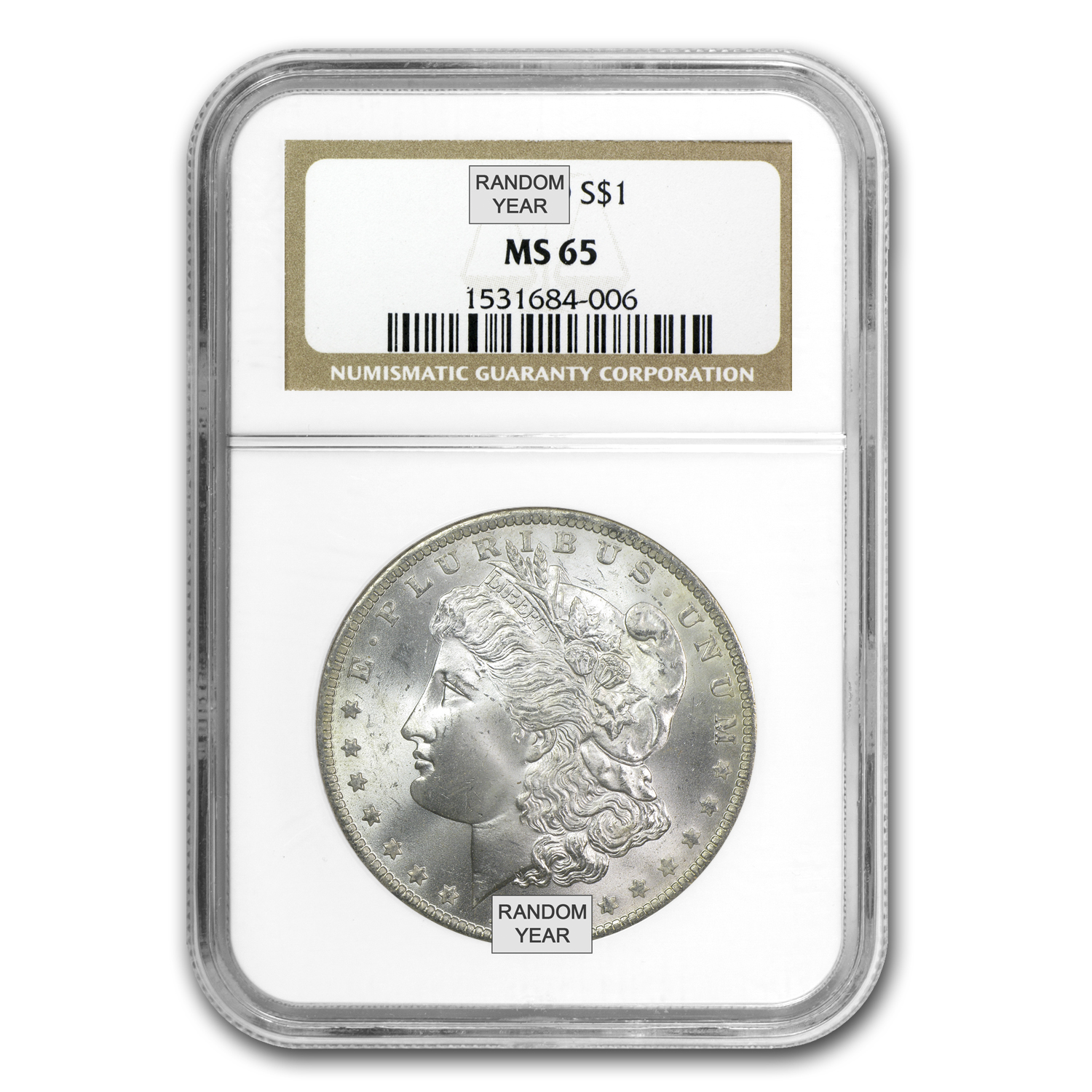 1878-1904 Morgan Dollars - MS-65 NGC