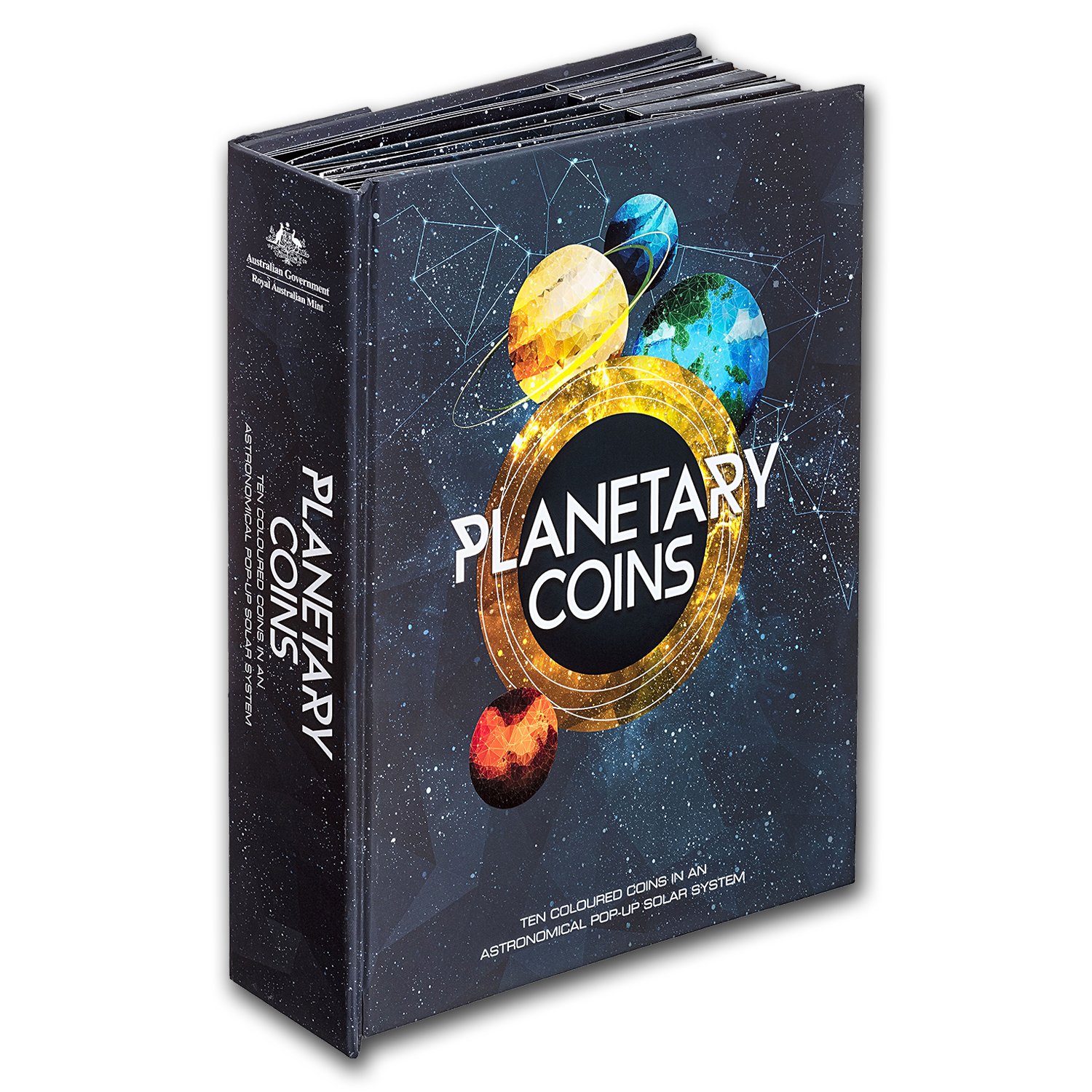 2017 10-Coin Royal Australian Mint Planetary Pop-Up Book