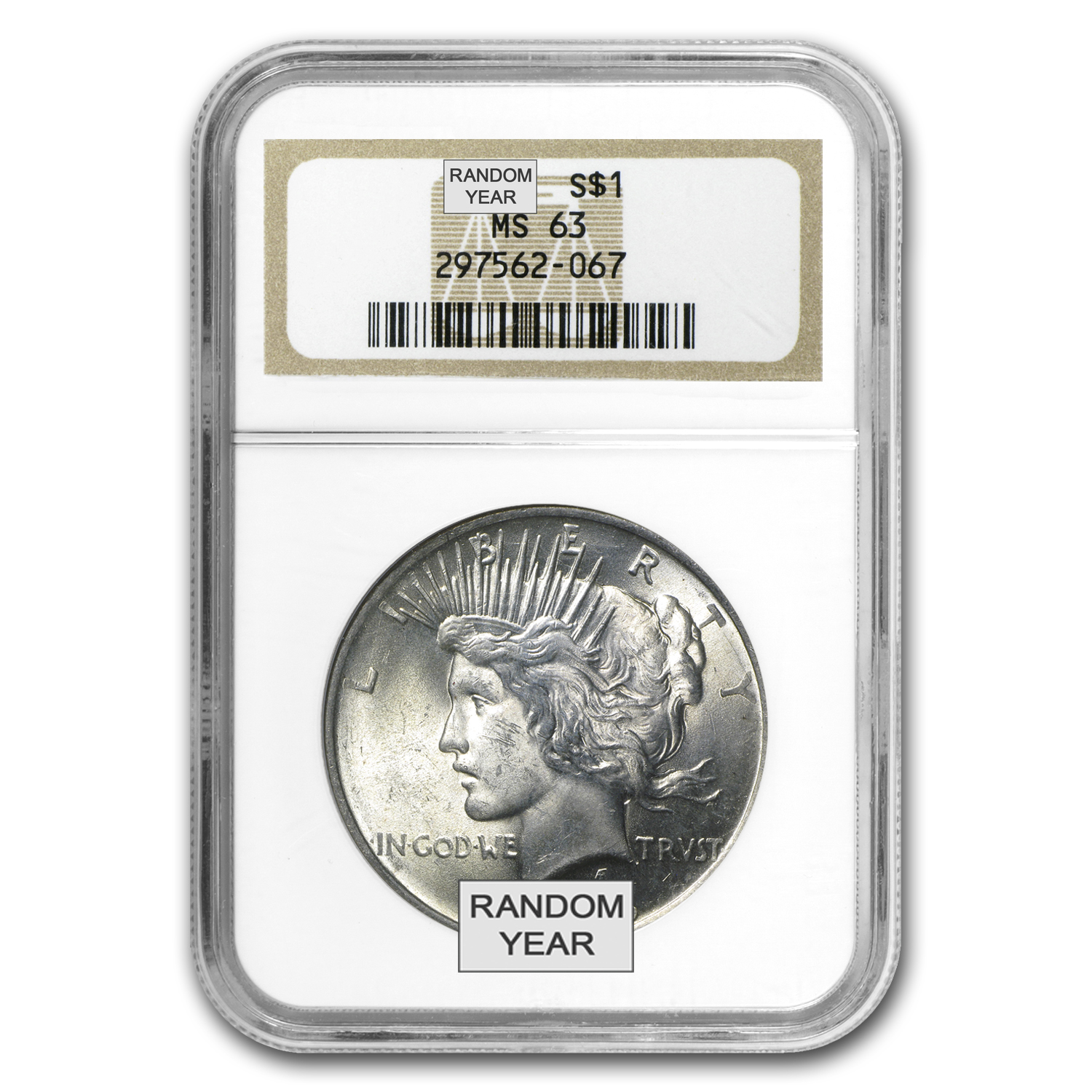 1922-1925 Peace Dollars - MS-63 NGC
