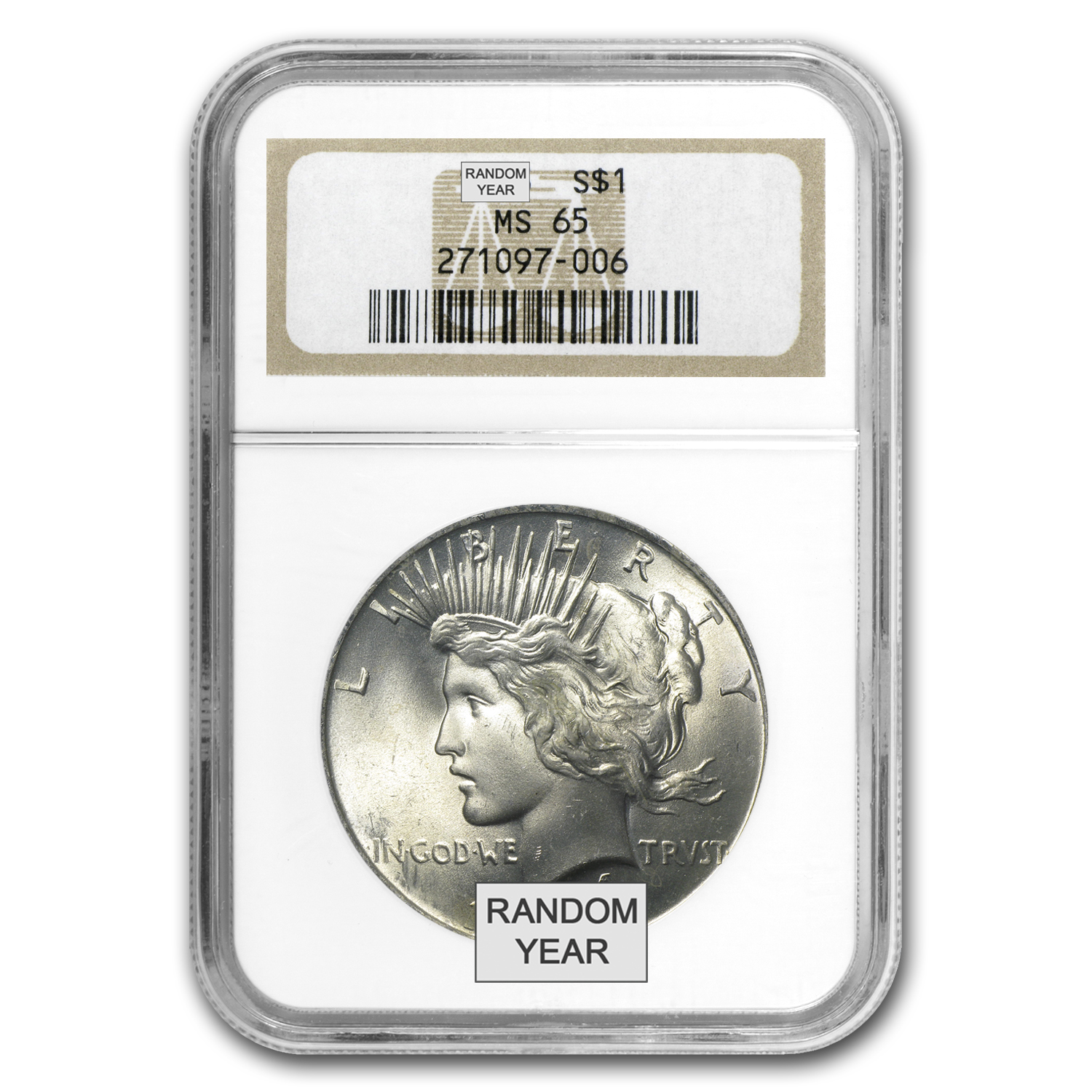 1922-1925 Peace Dollars - MS-65 NGC