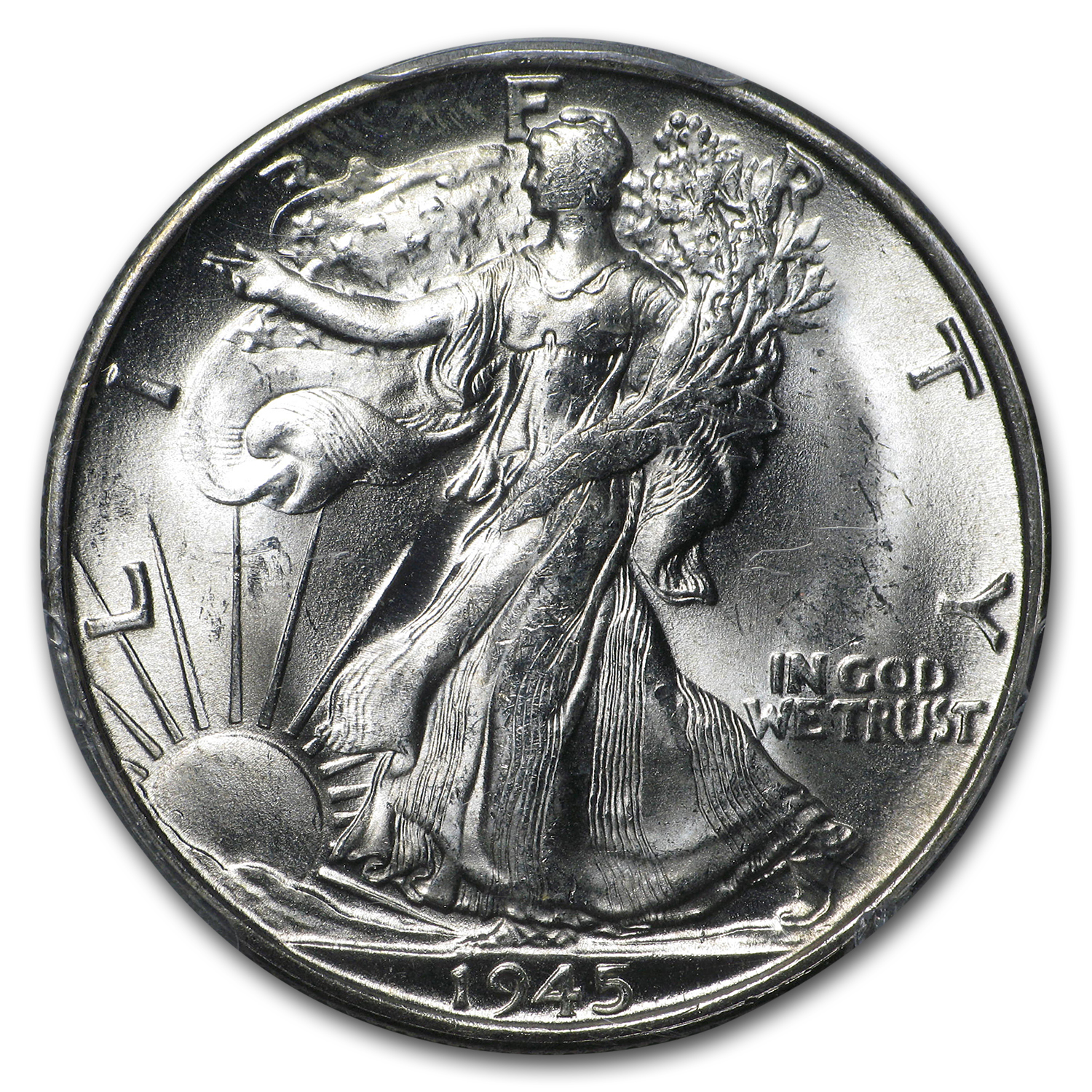 1945-S Walking Liberty Half Dollar MS-64 PCGS