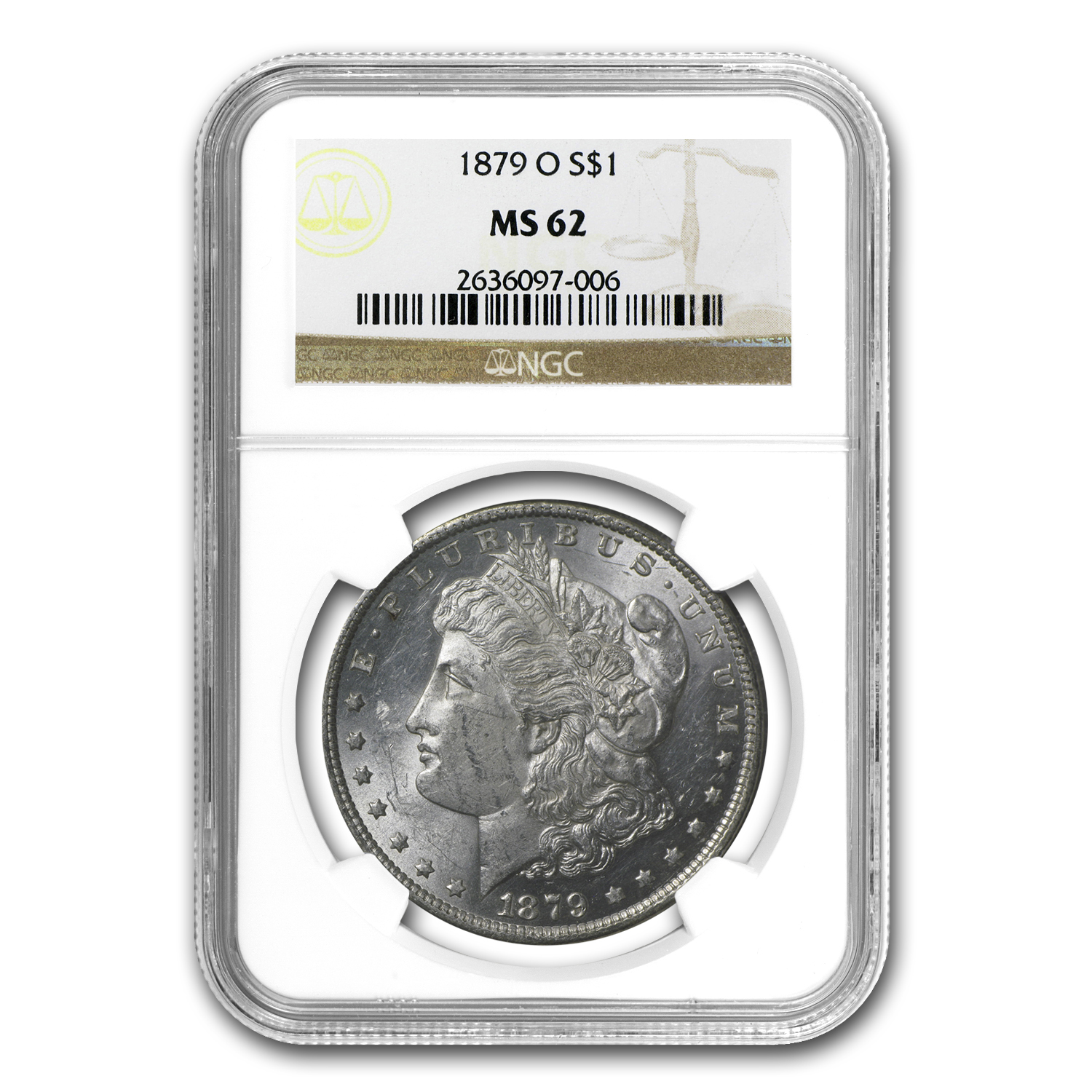 1879-O Morgan Dollar MS-62 NGC
