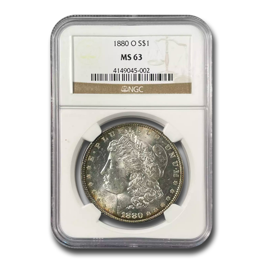 1880-O Morgan Dollar - MS-63 NGC