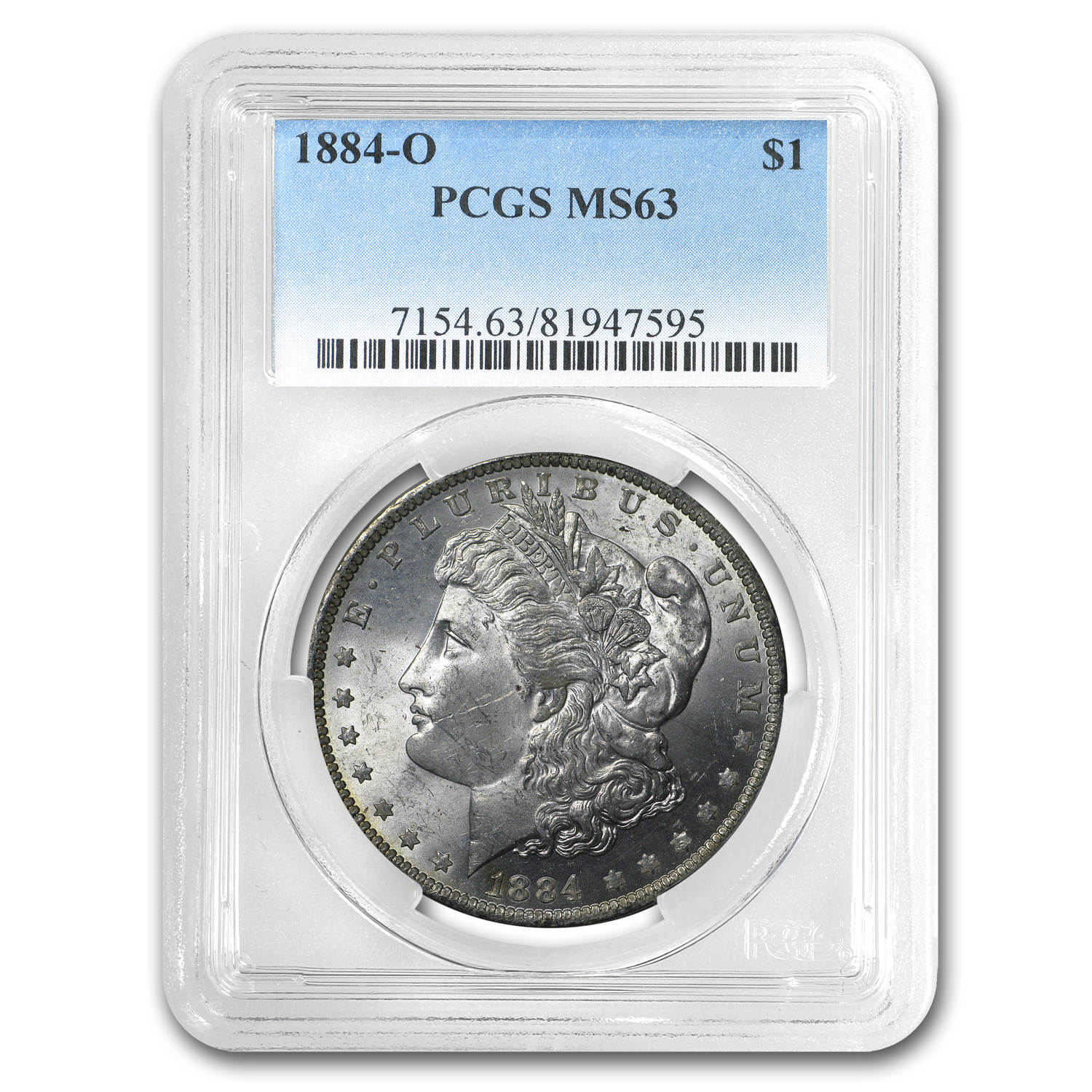 1884-O Morgan Dollar MS-63 PCGS (Rev Toning)