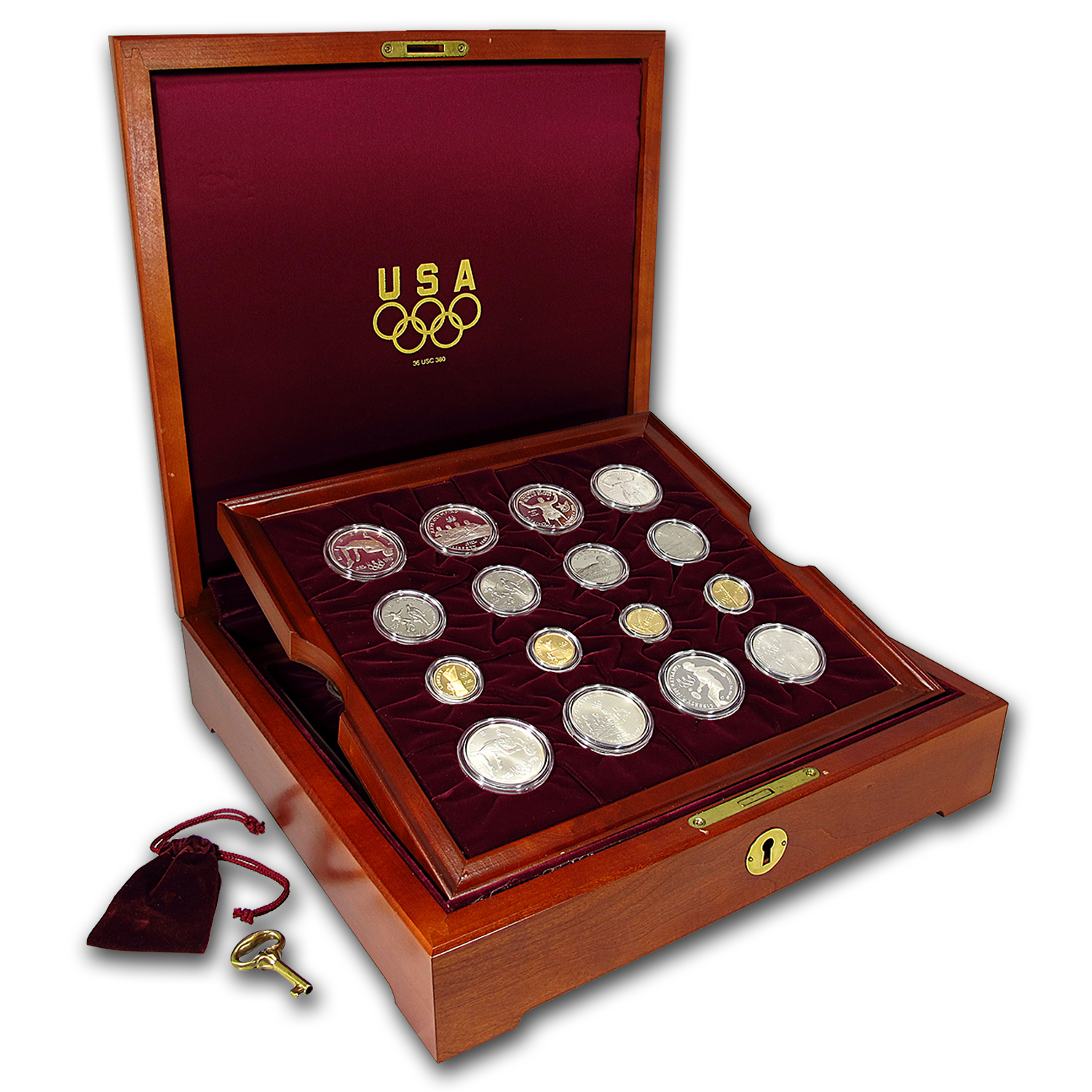 1995 & 1996 32-Coin Commem Olympic Set BU & Proof